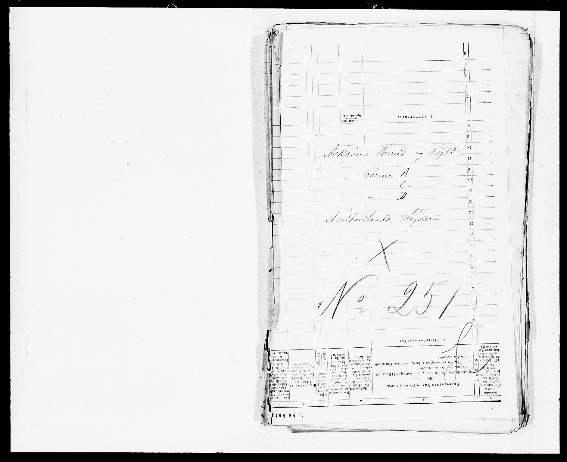 SAB, Folketelling 1875 for 1247P Askøy prestegjeld, 1875, s. 1