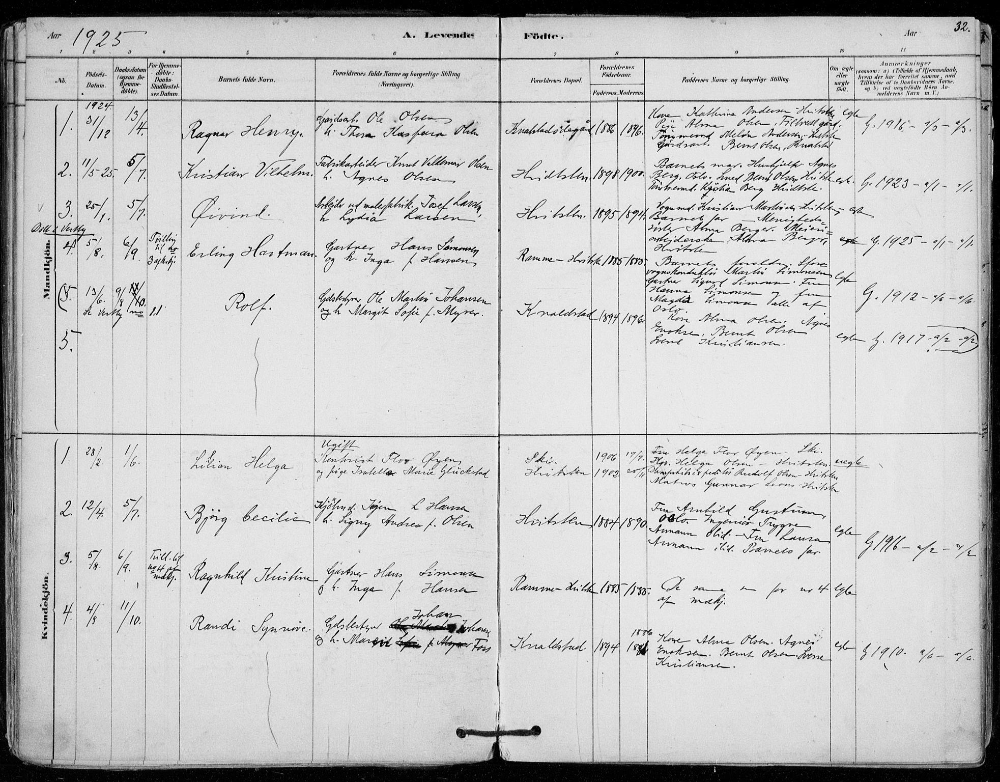 SAO, Vestby prestekontor Kirkebøker, F/Fd/L0001: Ministerialbok nr. IV 1, 1878-1945, s. 32
