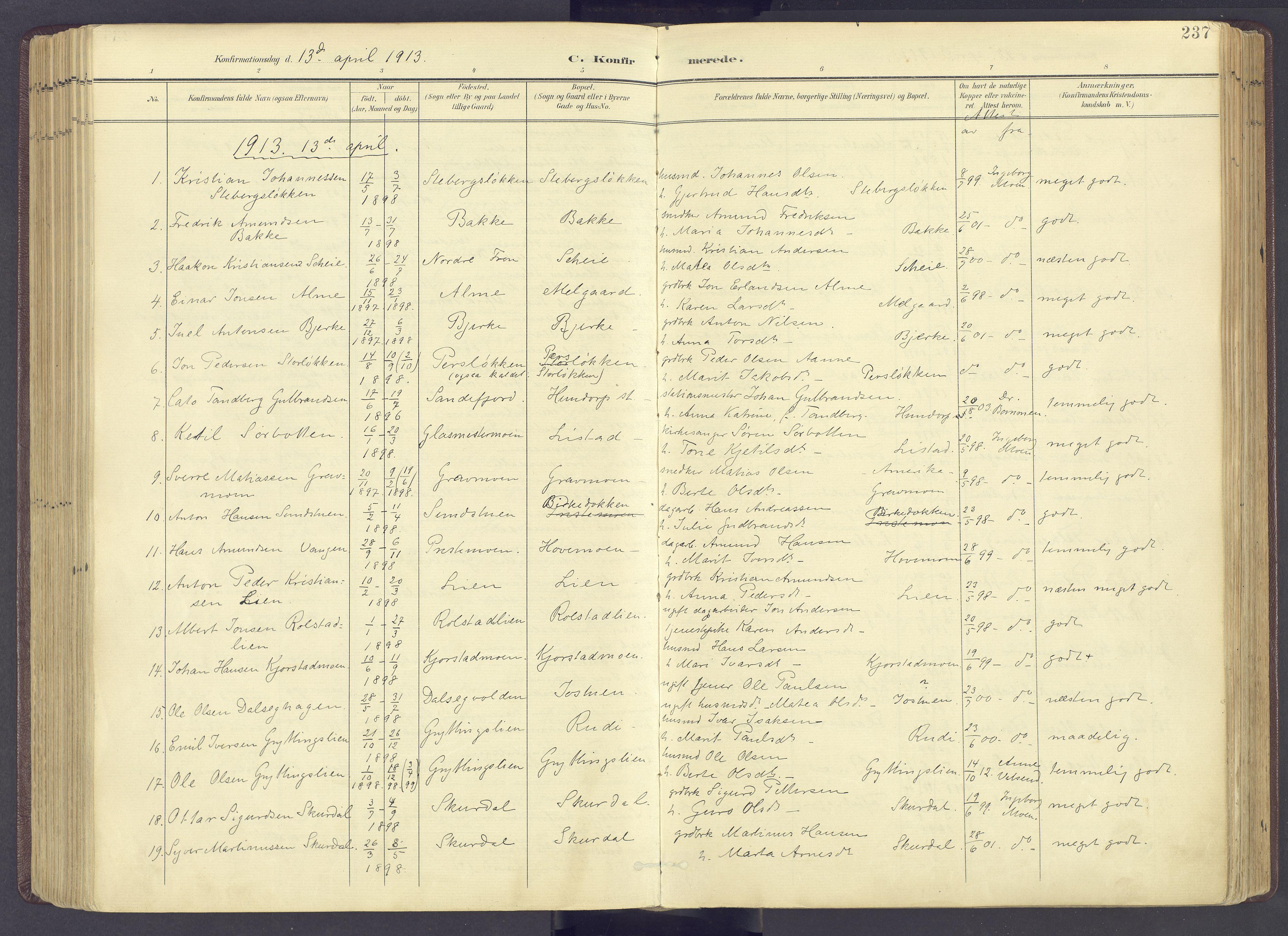 SAH, Sør-Fron prestekontor, H/Ha/Haa/L0004: Ministerialbok nr. 4, 1898-1919, s. 237