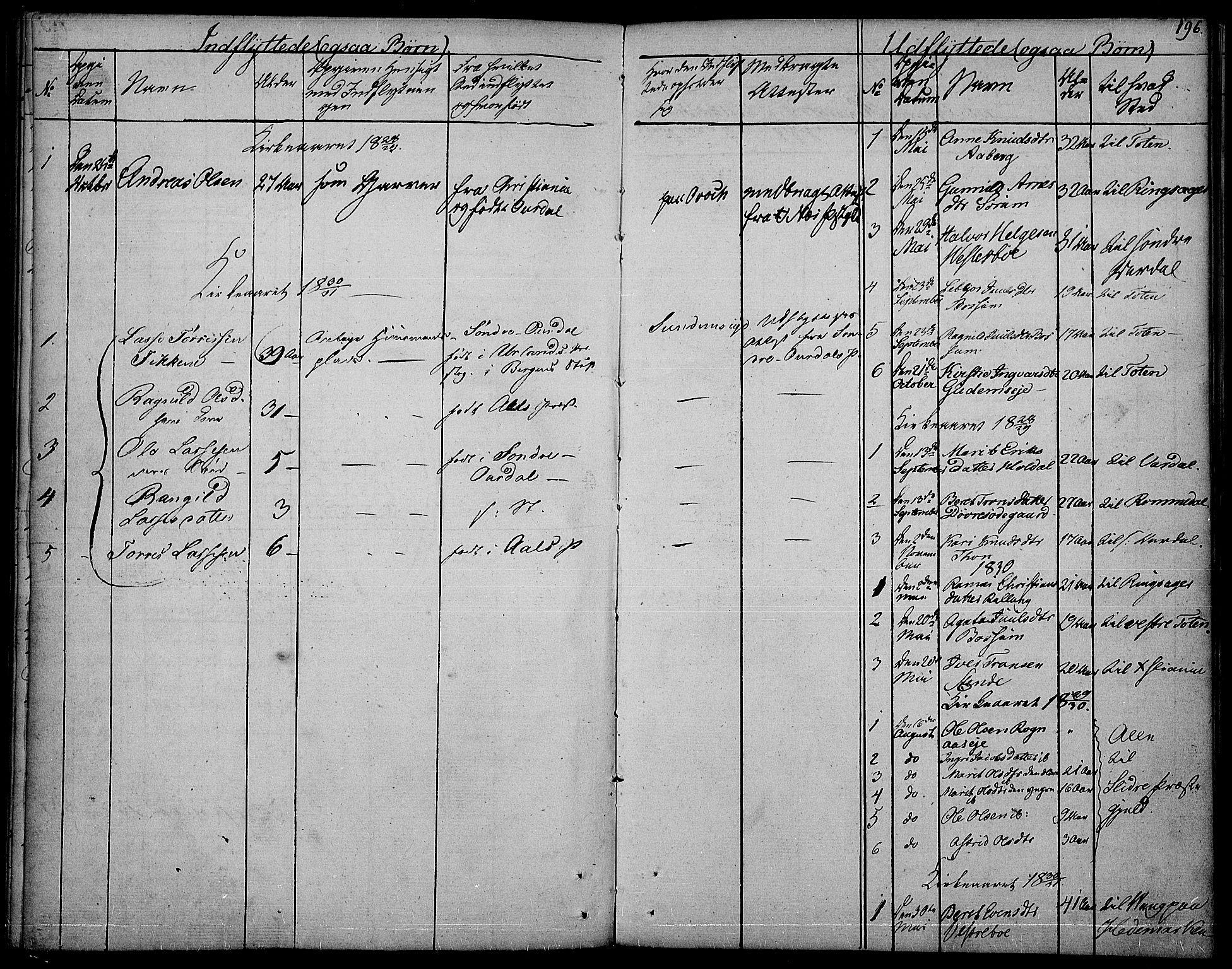 SAH, Nord-Aurdal prestekontor, Ministerialbok nr. 3, 1828-1841, s. 196