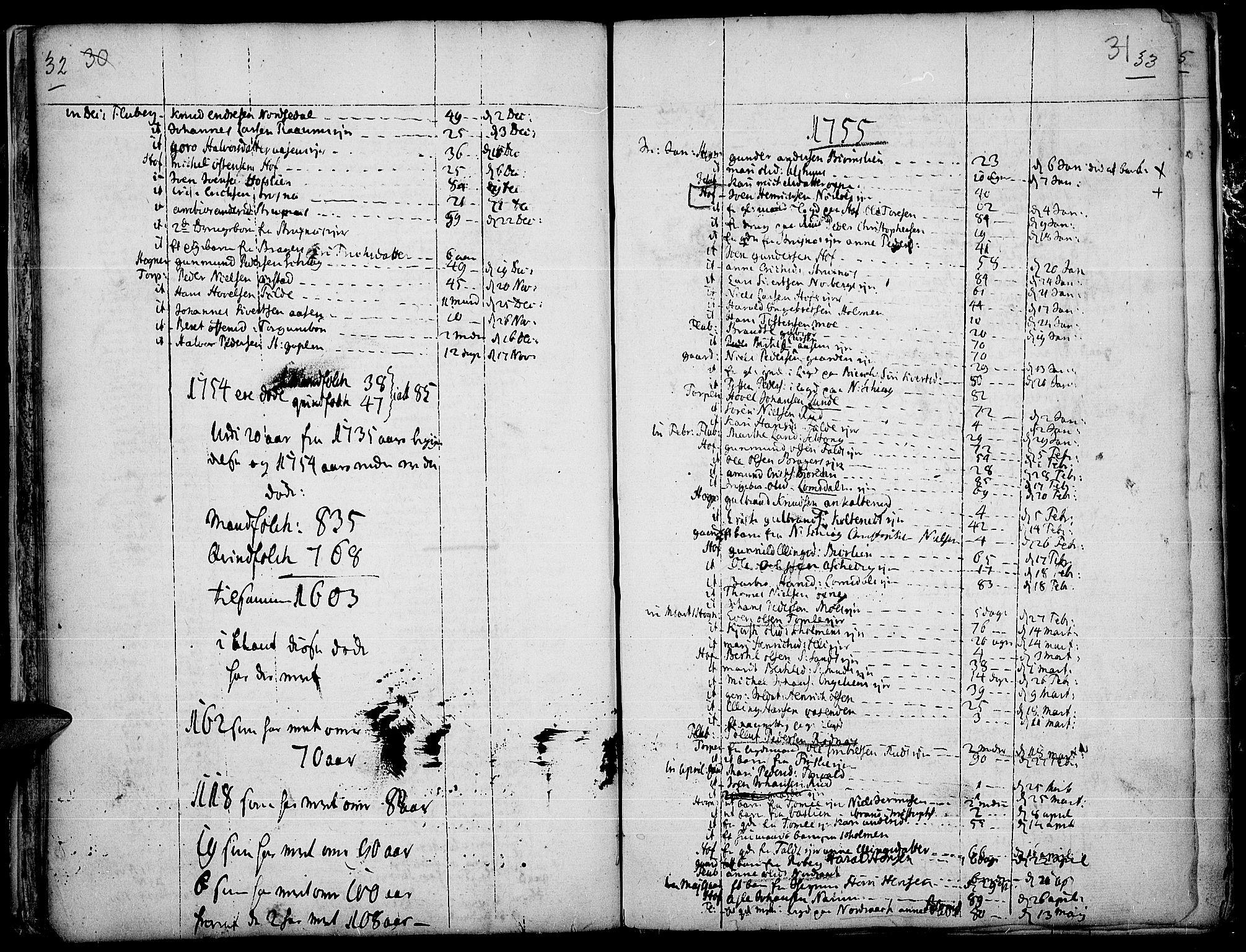 SAH, Land prestekontor, Ministerialbok nr. 4, 1733-1764, s. 32-33