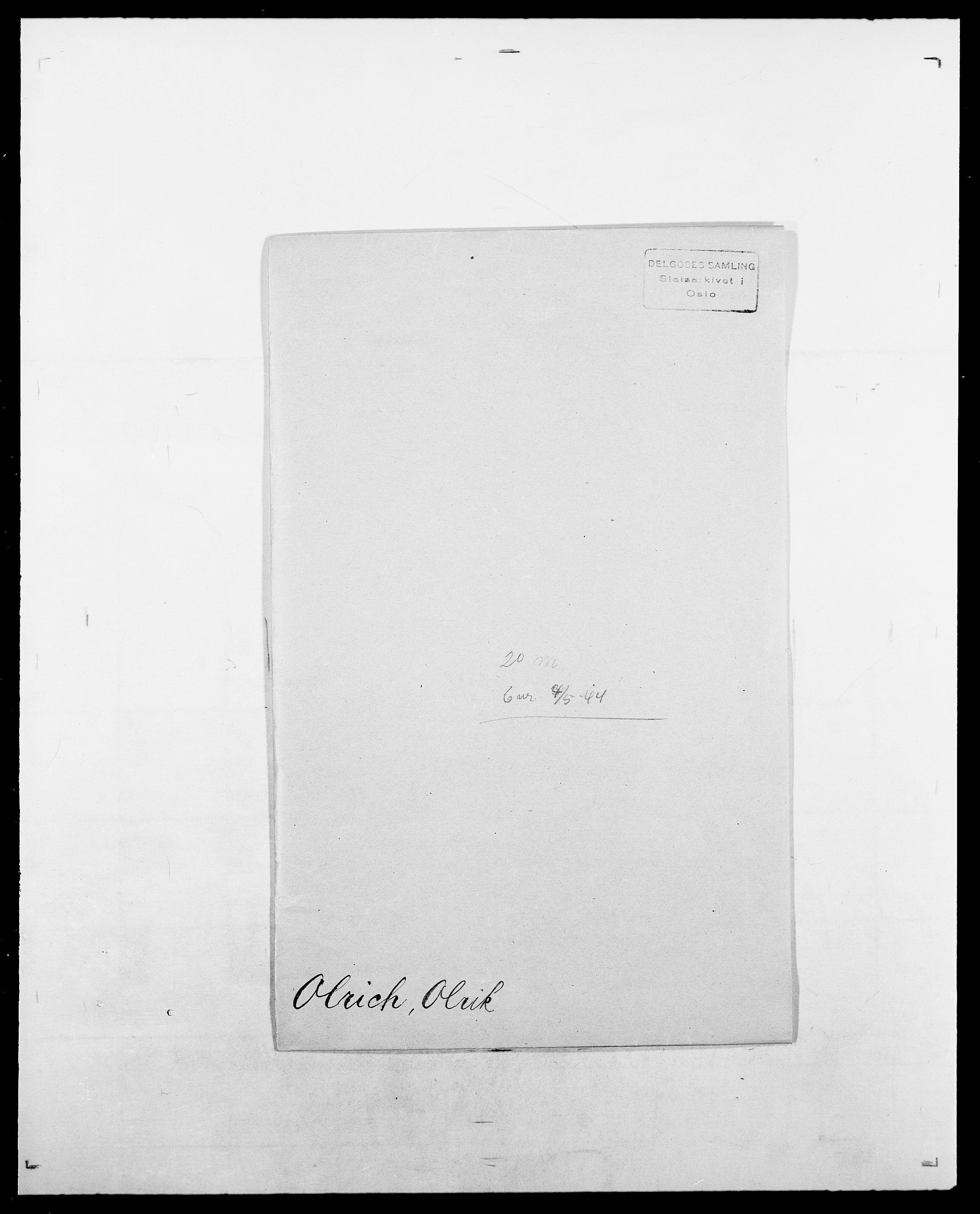 SAO, Delgobe, Charles Antoine - samling, D/Da/L0029: Obel - Oxholm, s. 118