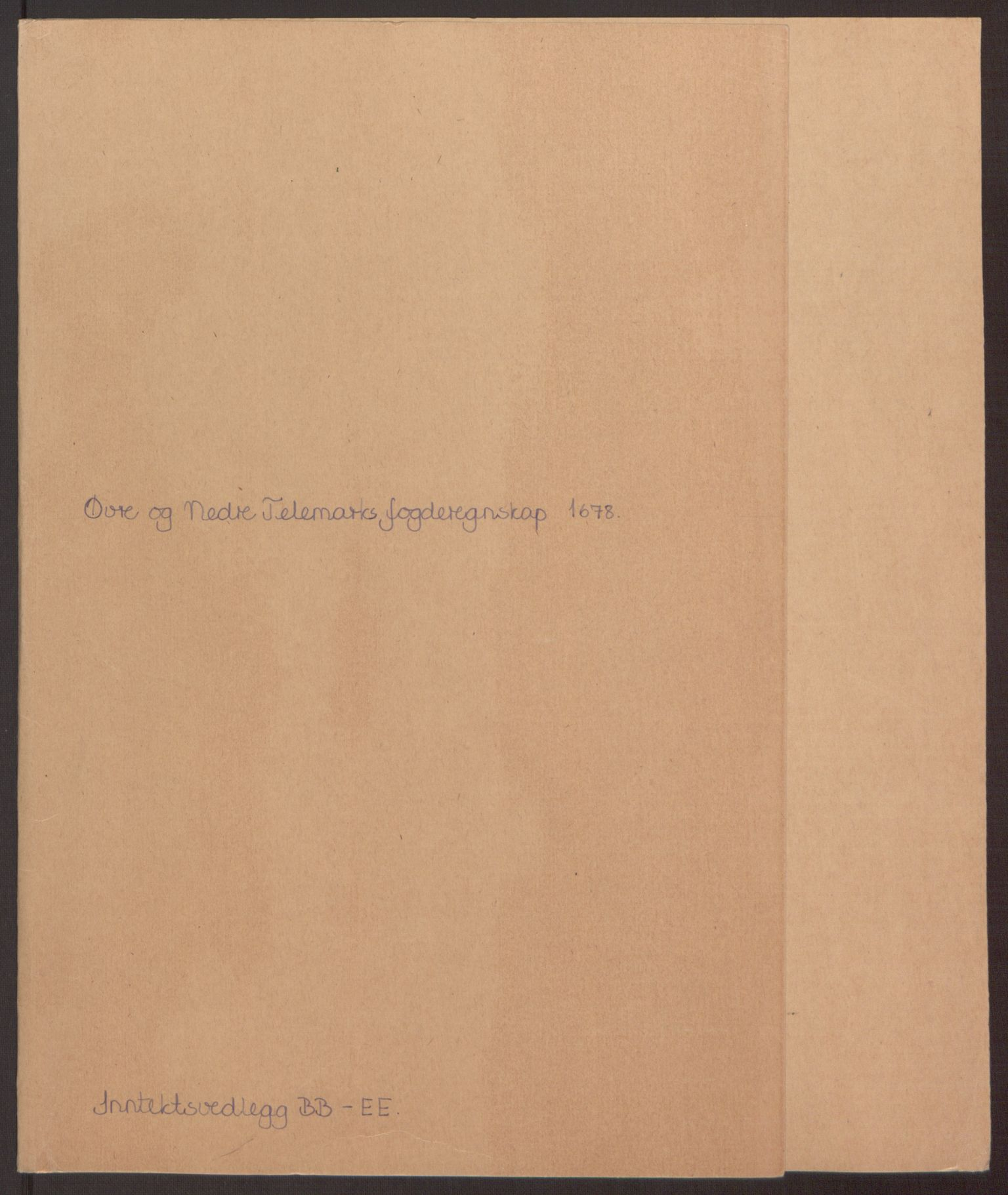 RA, Rentekammeret inntil 1814, Reviderte regnskaper, Fogderegnskap, R35/L2070: Fogderegnskap Øvre og Nedre Telemark, 1678, s. 2