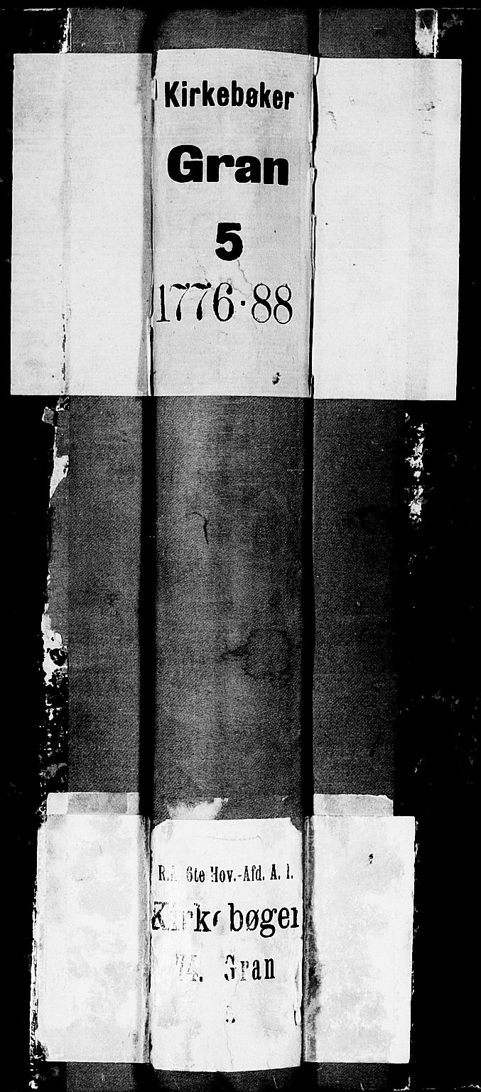 SAH, Gran prestekontor, Ministerialbok nr. 5, 1776-1788