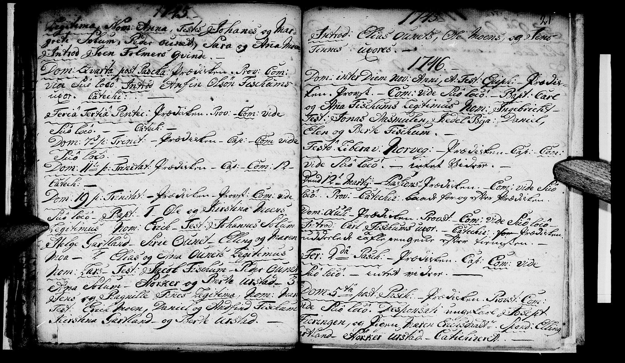 SAT, Ministerialprotokoller, klokkerbøker og fødselsregistre - Nord-Trøndelag, 759/L0525: Ministerialbok nr. 759A01, 1706-1748, s. 21