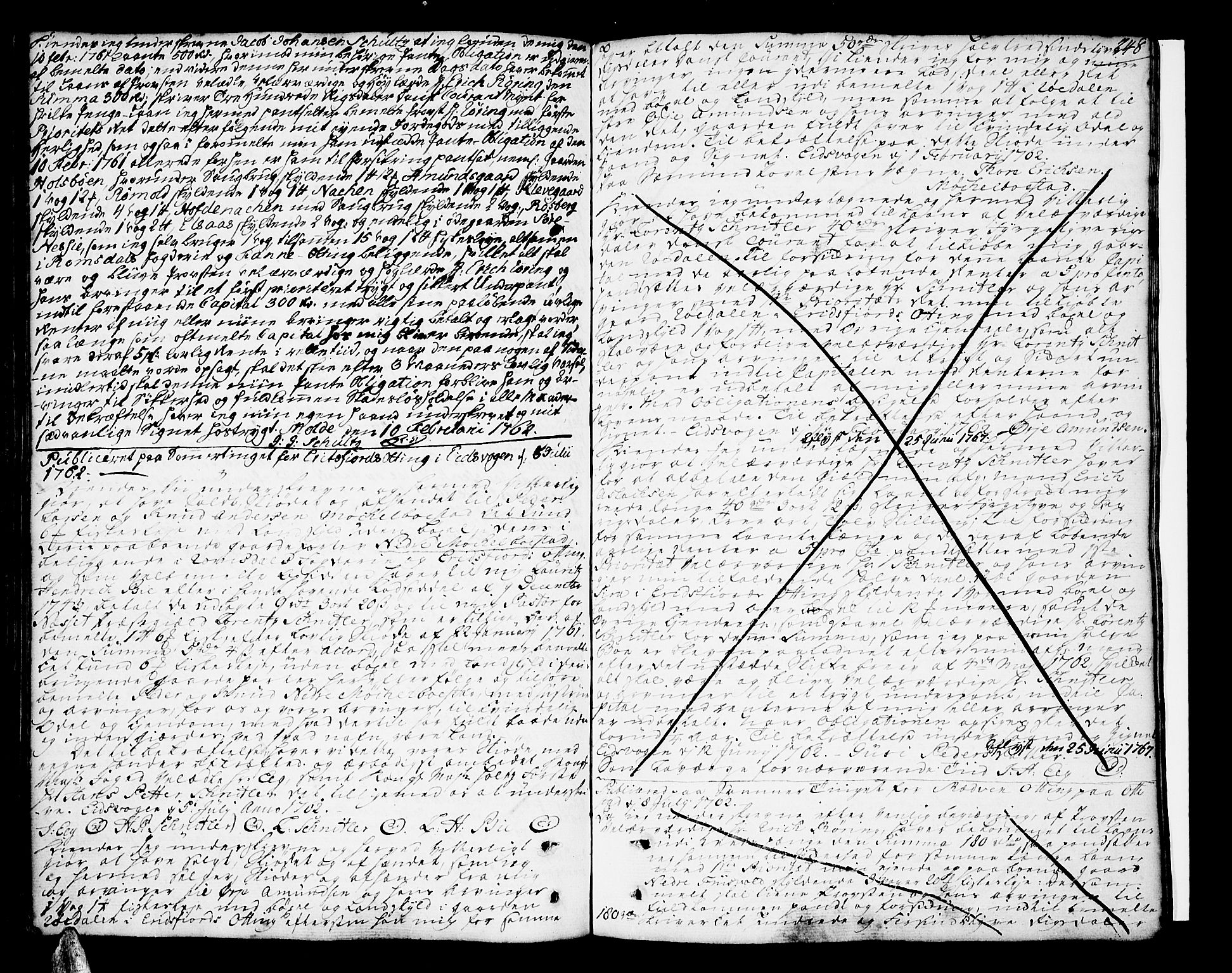 SAT, Romsdal sorenskriveri, 2/2C/L0003: Pantebok nr. 3, 1747-1767, s. 248