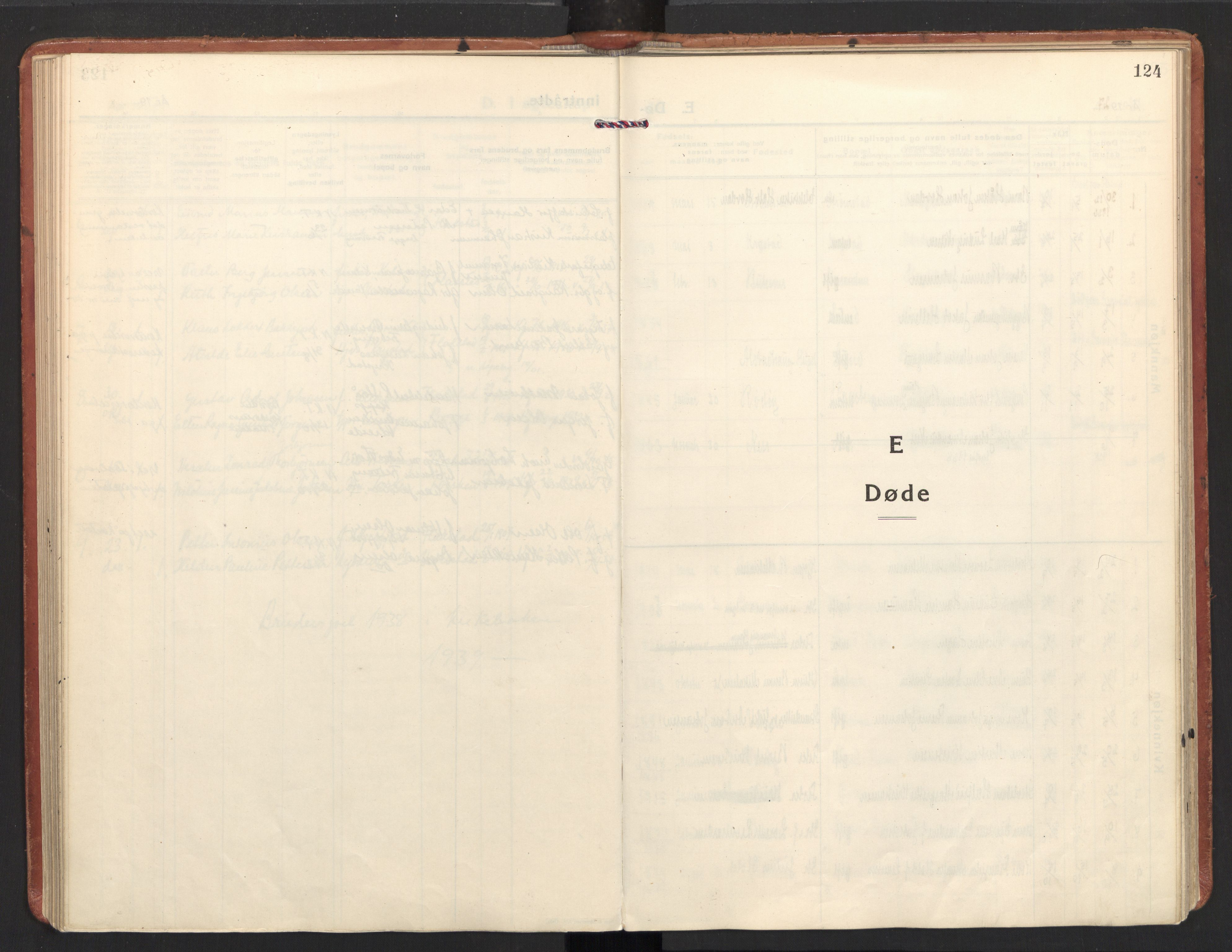 SAT, Ministerialprotokoller, klokkerbøker og fødselsregistre - Nordland, 885/L1211: Ministerialbok nr. 885A11, 1927-1938, s. 124