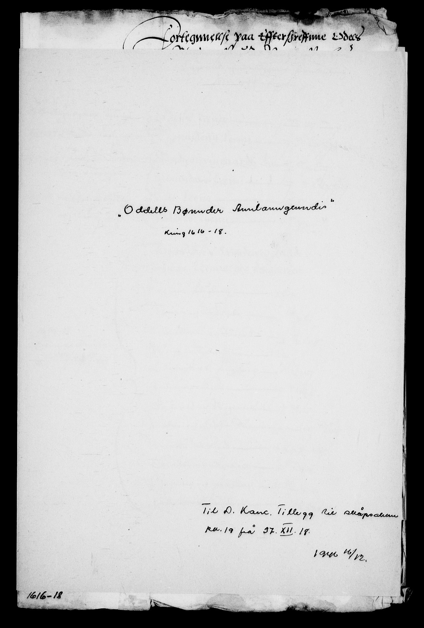 RA, Danske Kanselli, Skapsaker, G/L0019: Tillegg til skapsakene, 1616-1753, s. 51