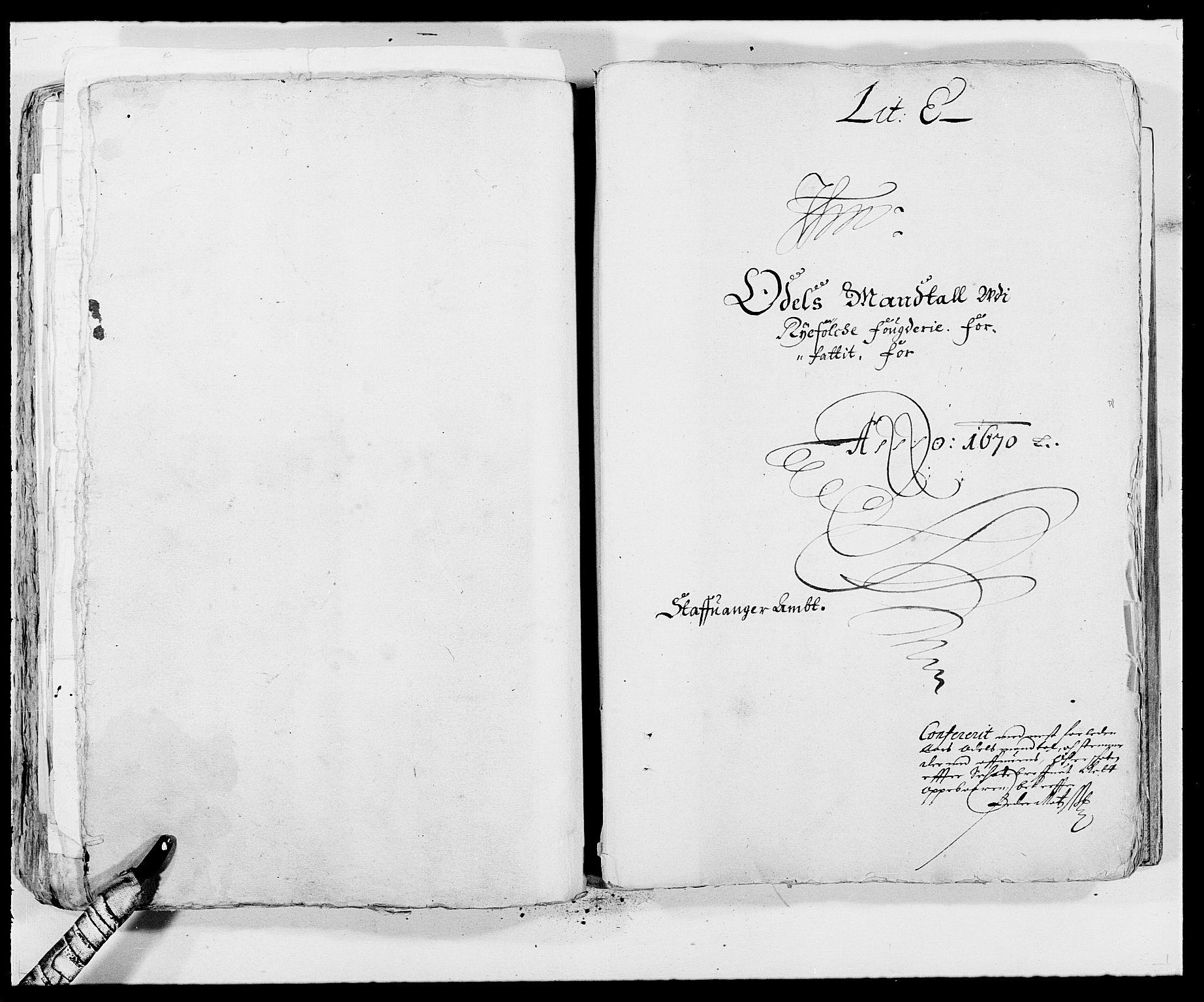 RA, Rentekammeret inntil 1814, Reviderte regnskaper, Fogderegnskap, R47/L2843: Fogderegnskap Ryfylke, 1670-1671, s. 176