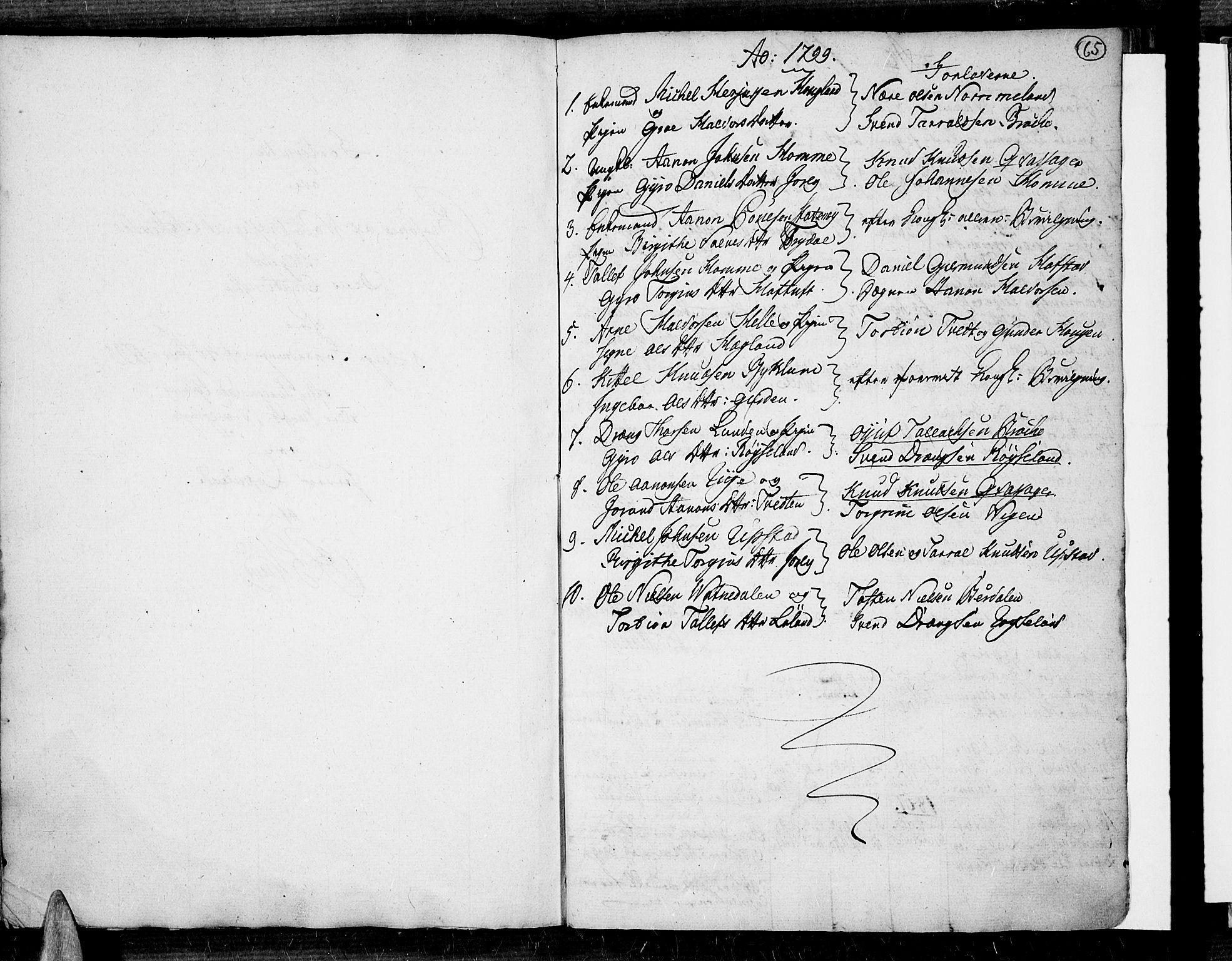 SAK, Valle sokneprestkontor, F/Fa/Fac/L0003: Ministerialbok nr. A 3, 1776-1790, s. 65