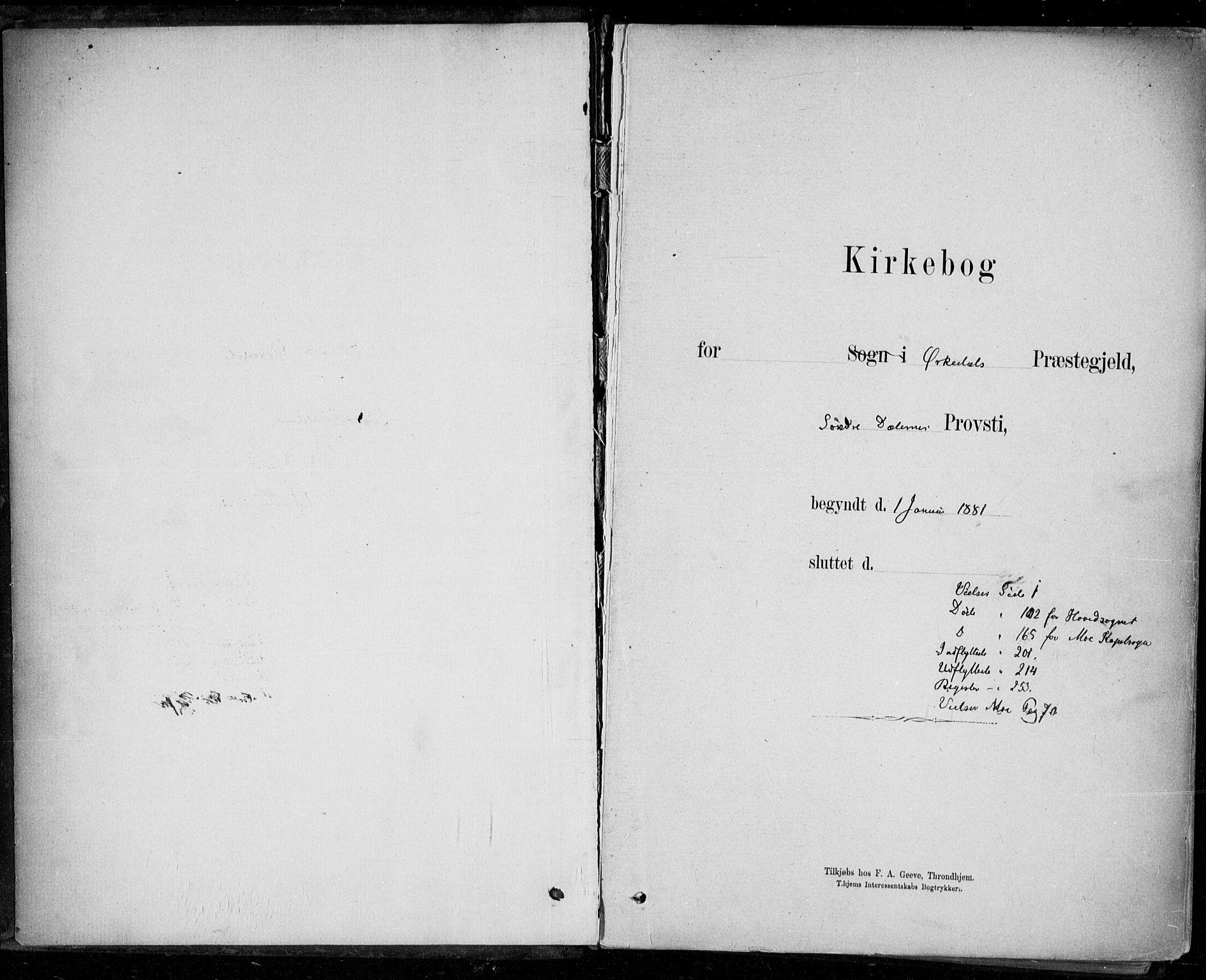 SAT, Ministerialprotokoller, klokkerbøker og fødselsregistre - Sør-Trøndelag, 668/L0810: Ministerialbok nr. 668A10, 1881-1894