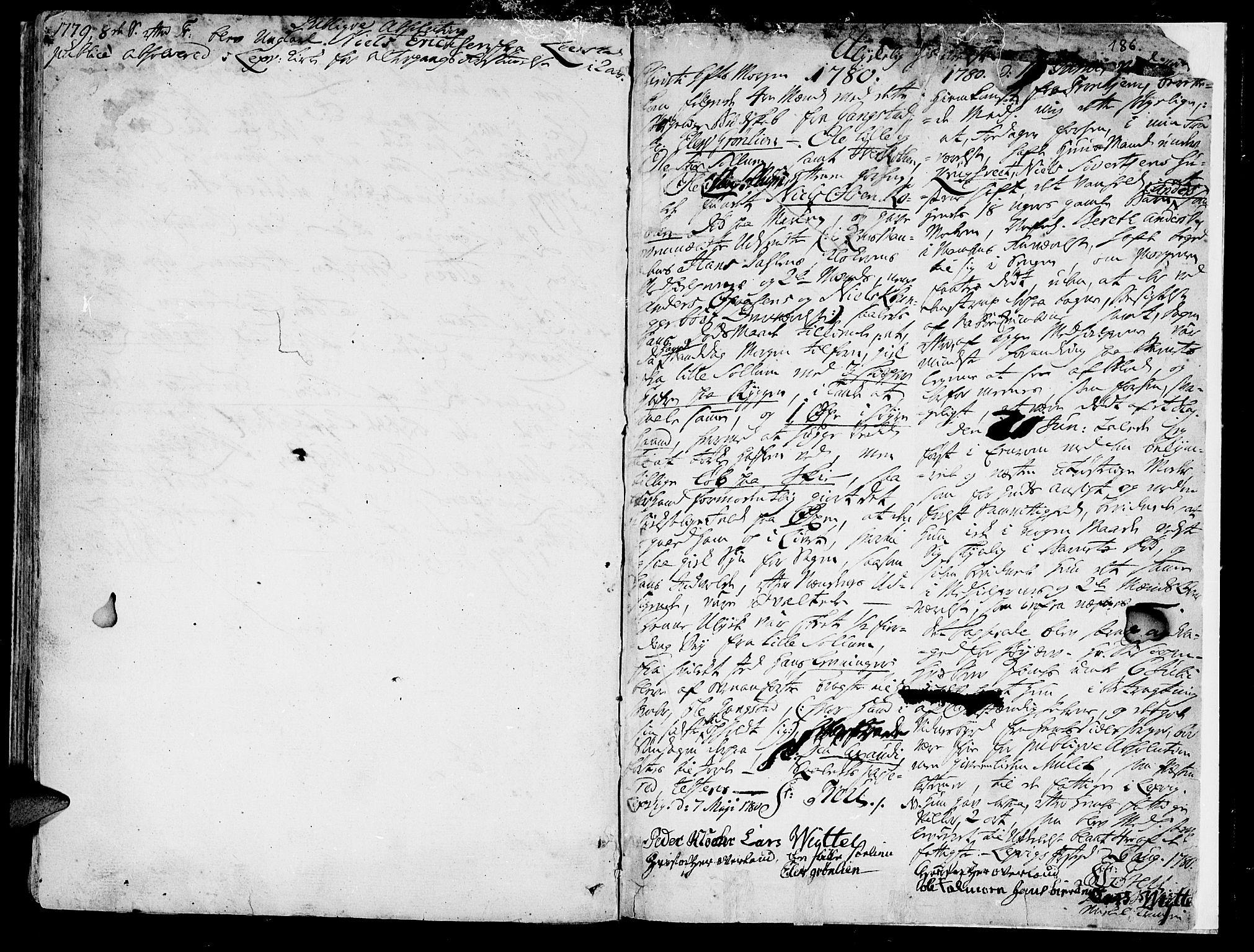 SAT, Ministerialprotokoller, klokkerbøker og fødselsregistre - Nord-Trøndelag, 701/L0003: Ministerialbok nr. 701A03, 1751-1783, s. 186