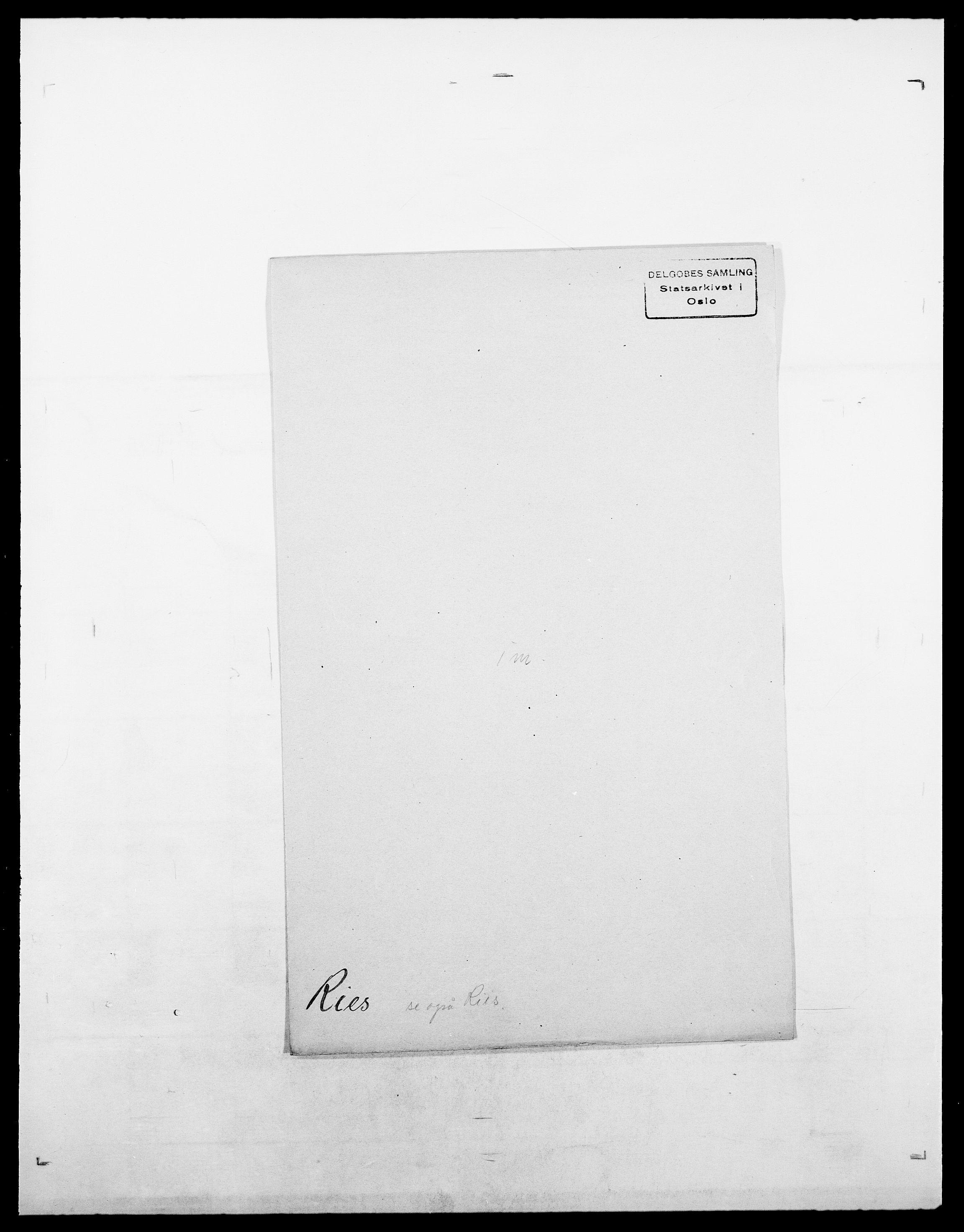 SAO, Delgobe, Charles Antoine - samling, D/Da/L0032: Rabakovsky - Rivertz, s. 599