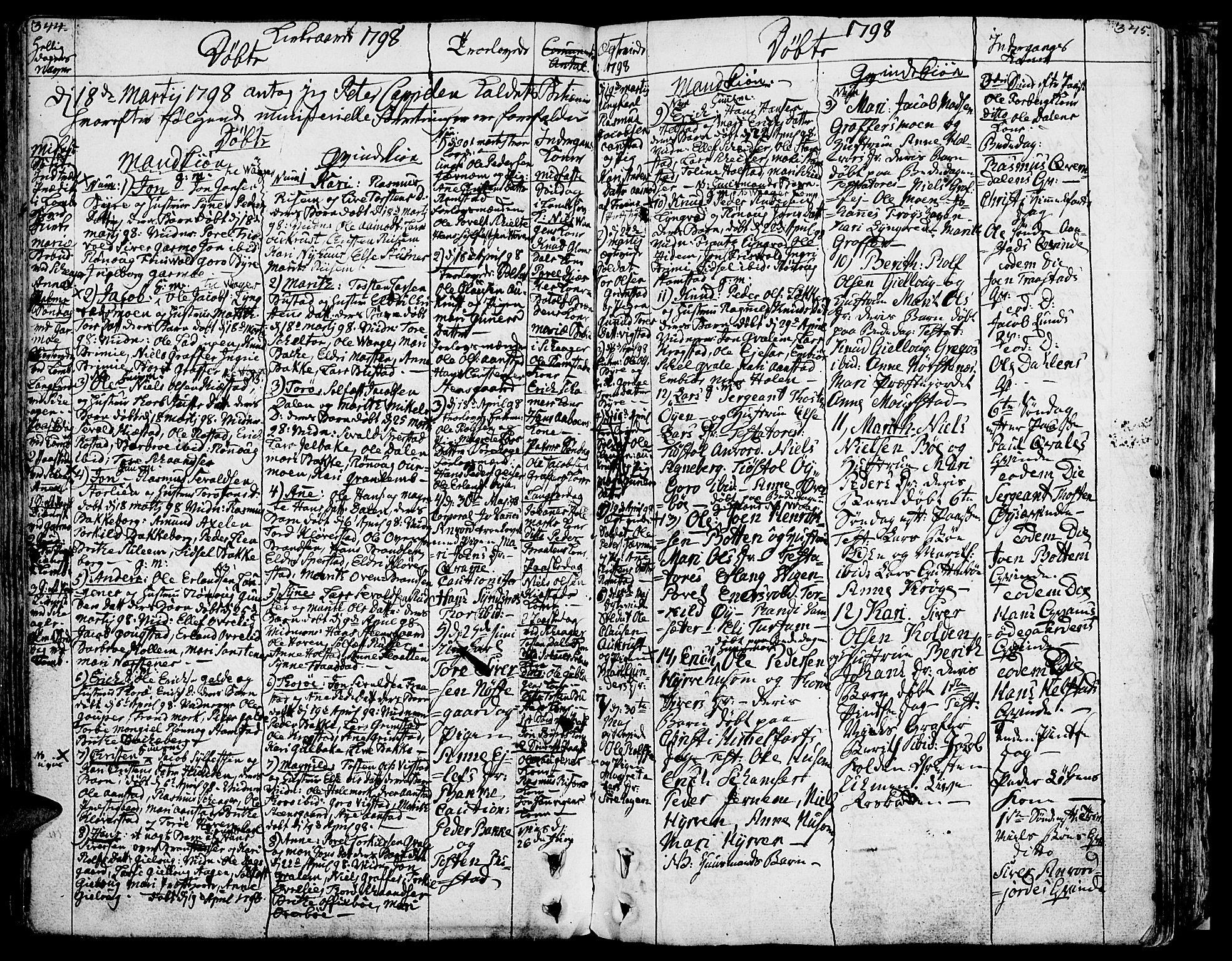 SAH, Lom prestekontor, K/L0002: Ministerialbok nr. 2, 1749-1801, s. 344-345