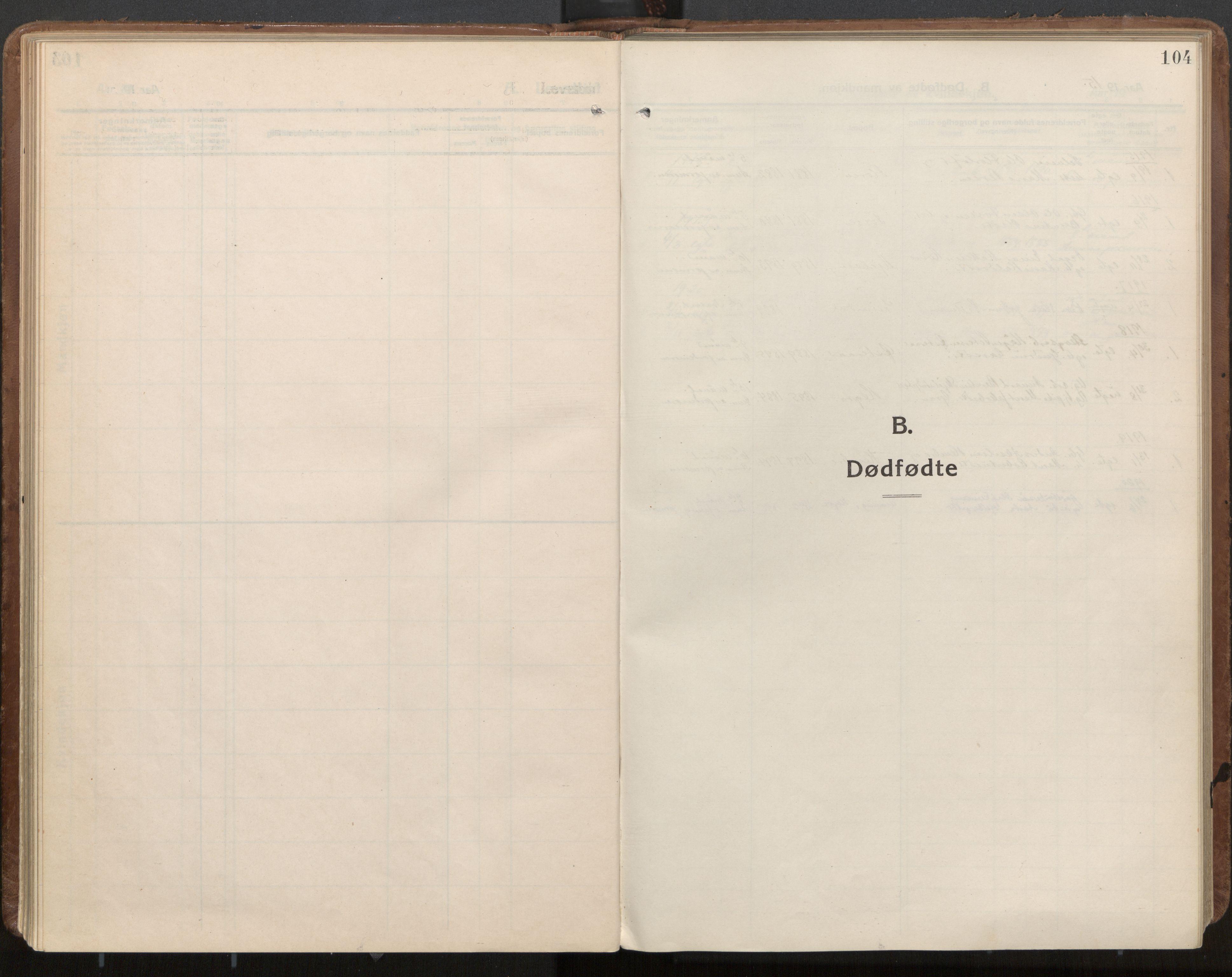 SAT, Ministerialprotokoller, klokkerbøker og fødselsregistre - Nord-Trøndelag, 703/L0037: Ministerialbok nr. 703A10, 1915-1932, s. 104