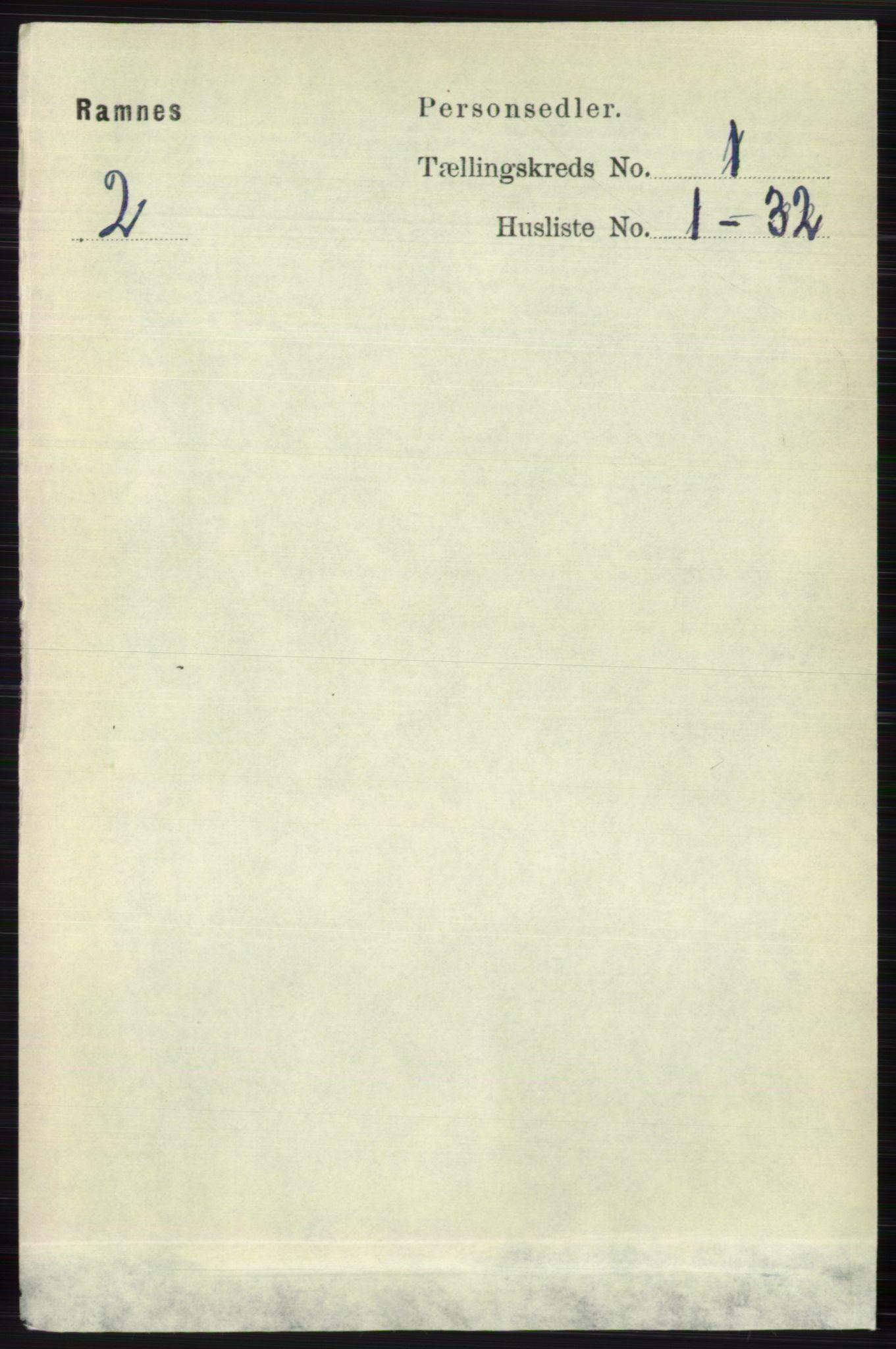 RA, Folketelling 1891 for 0718 Ramnes herred, 1891, s. 92