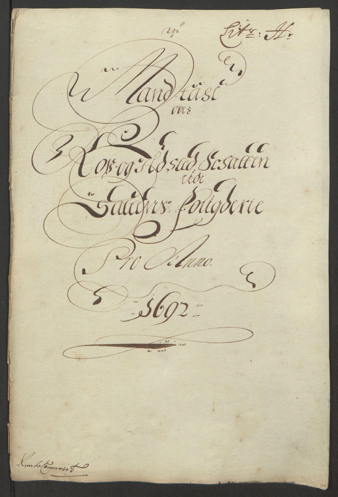RA, Rentekammeret inntil 1814, Reviderte regnskaper, Fogderegnskap, R66/L4577: Fogderegnskap Salten, 1691-1693, s. 207