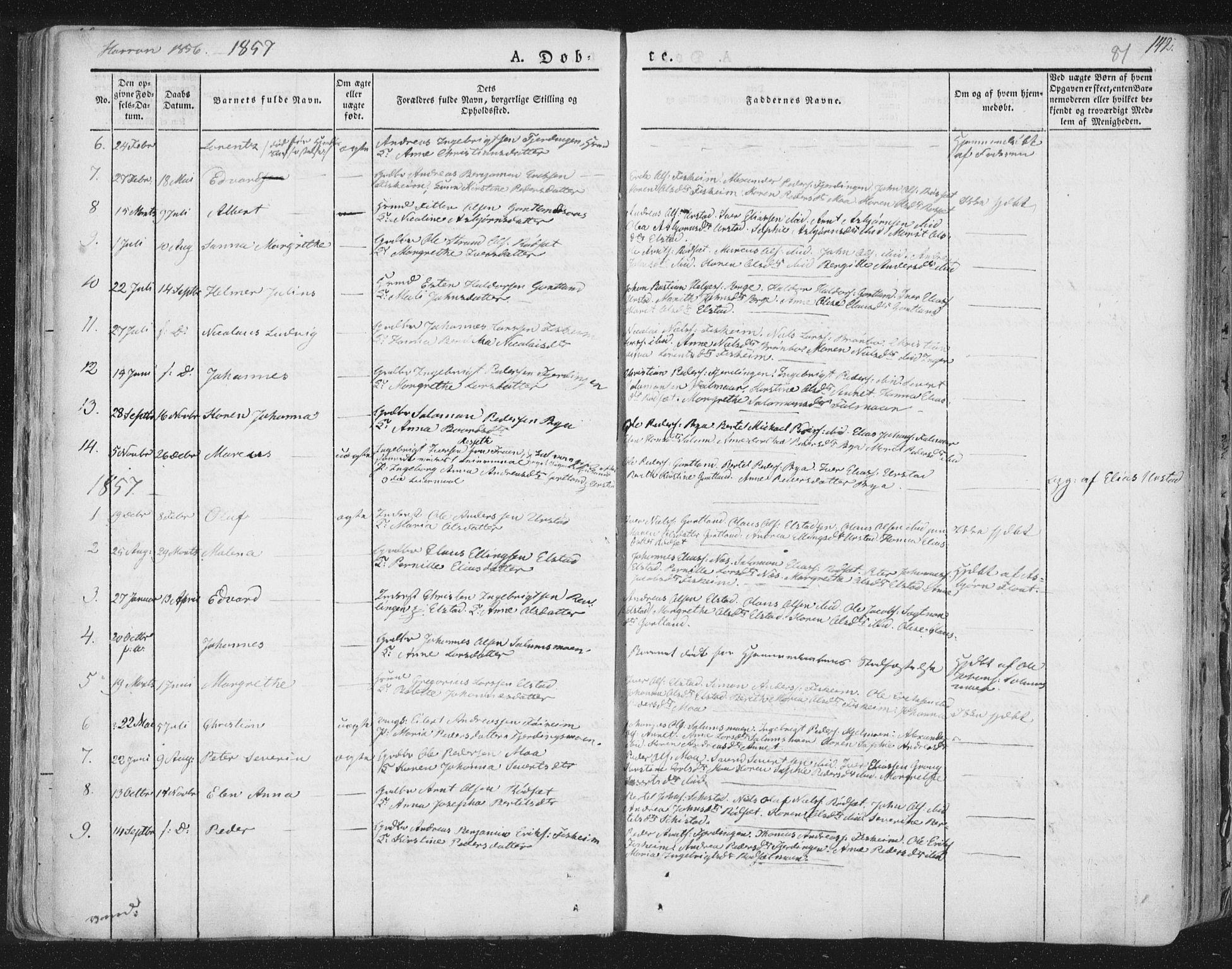 SAT, Ministerialprotokoller, klokkerbøker og fødselsregistre - Nord-Trøndelag, 758/L0513: Ministerialbok nr. 758A02 /3, 1839-1868, s. 81