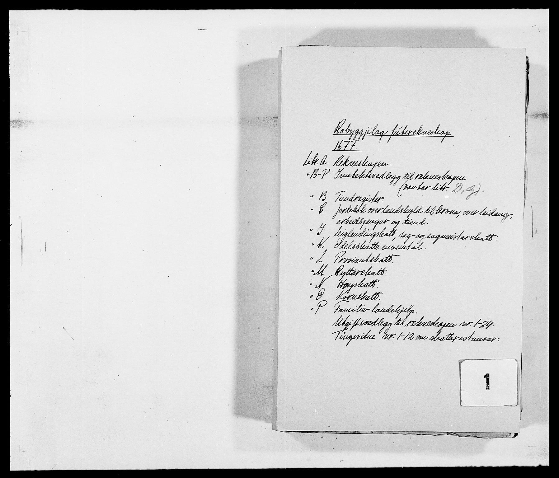 RA, Rentekammeret inntil 1814, Reviderte regnskaper, Fogderegnskap, R40/L2435: Fogderegnskap Råbyggelag, 1677-1678, s. 1