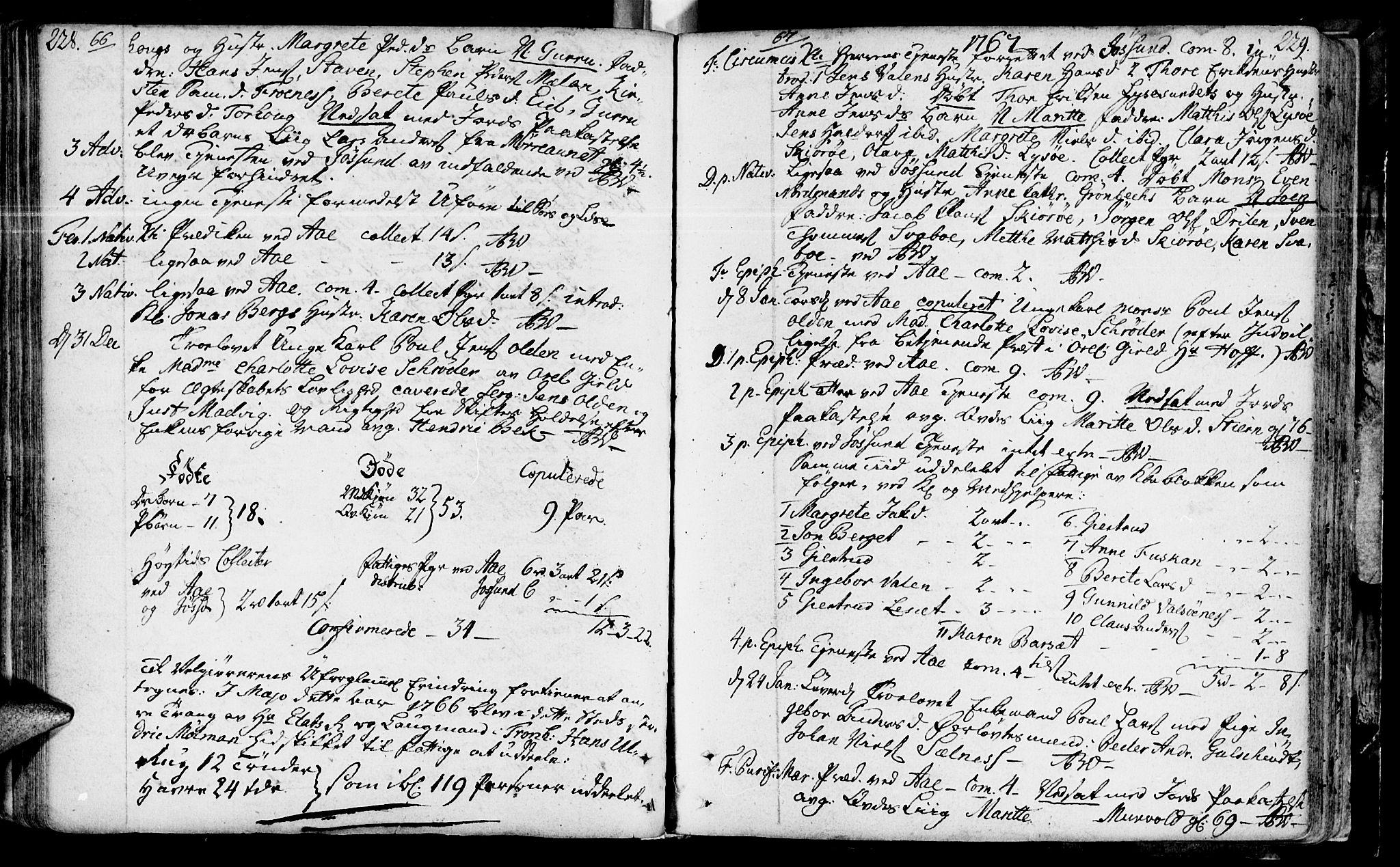 SAT, Ministerialprotokoller, klokkerbøker og fødselsregistre - Sør-Trøndelag, 655/L0672: Ministerialbok nr. 655A01, 1750-1779, s. 228-229