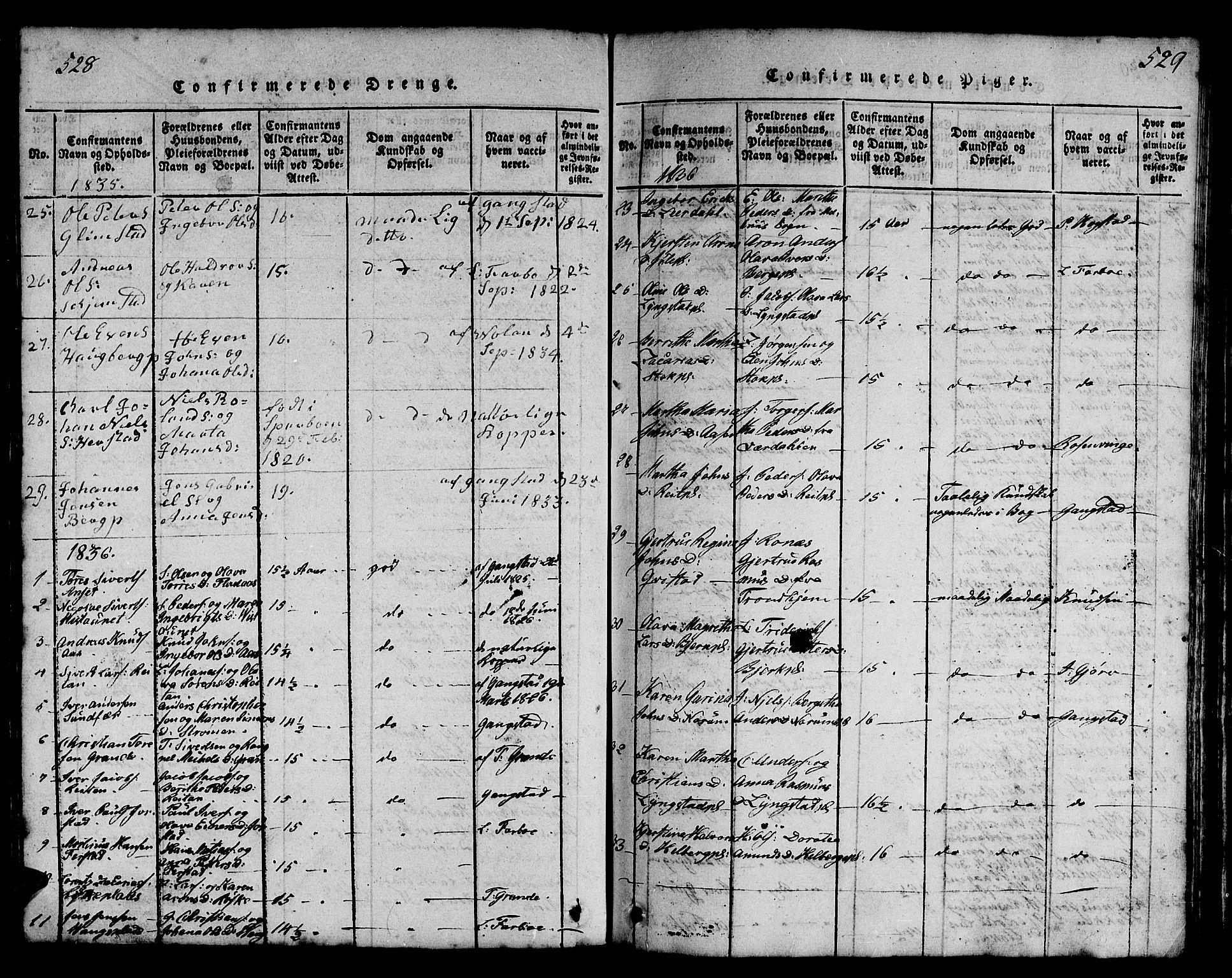 SAT, Ministerialprotokoller, klokkerbøker og fødselsregistre - Nord-Trøndelag, 730/L0298: Klokkerbok nr. 730C01, 1816-1849, s. 528-529