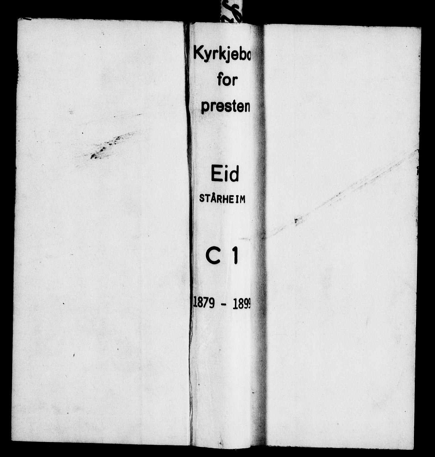 SAB, Eid Sokneprestembete, H/Haa: Ministerialbok nr. C 1, 1879-1899