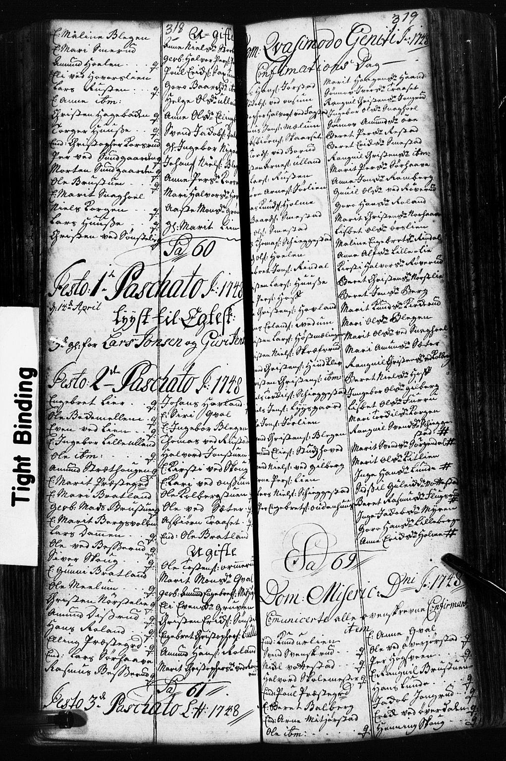 SAH, Fåberg prestekontor, Klokkerbok nr. 2, 1741-1756, s. 318-319