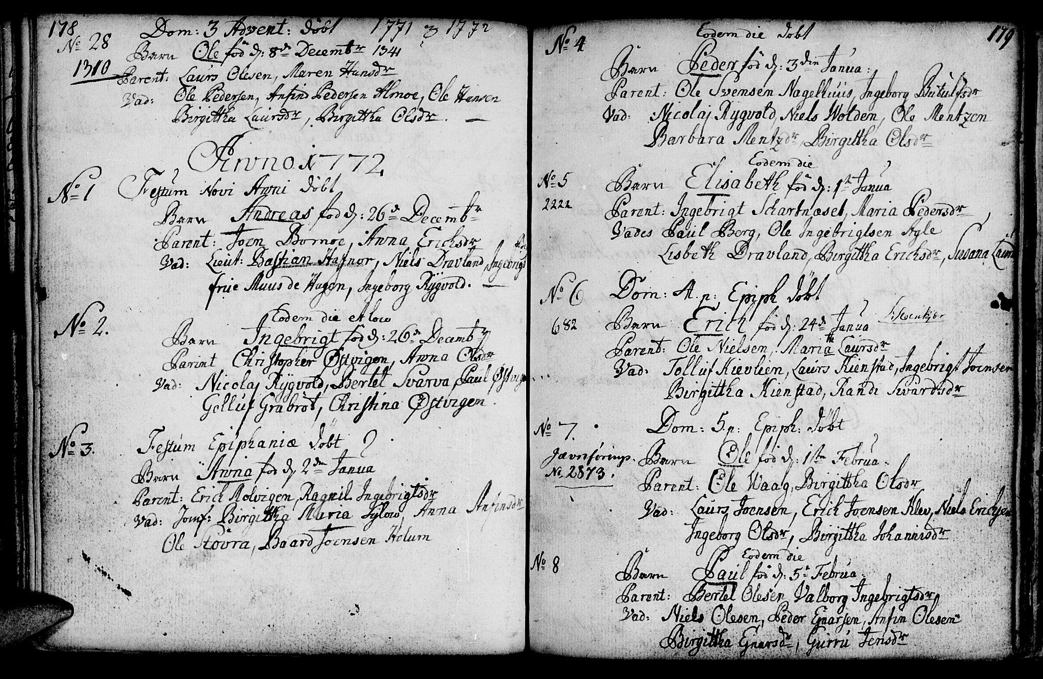 SAT, Ministerialprotokoller, klokkerbøker og fødselsregistre - Nord-Trøndelag, 749/L0467: Ministerialbok nr. 749A01, 1733-1787, s. 178-179