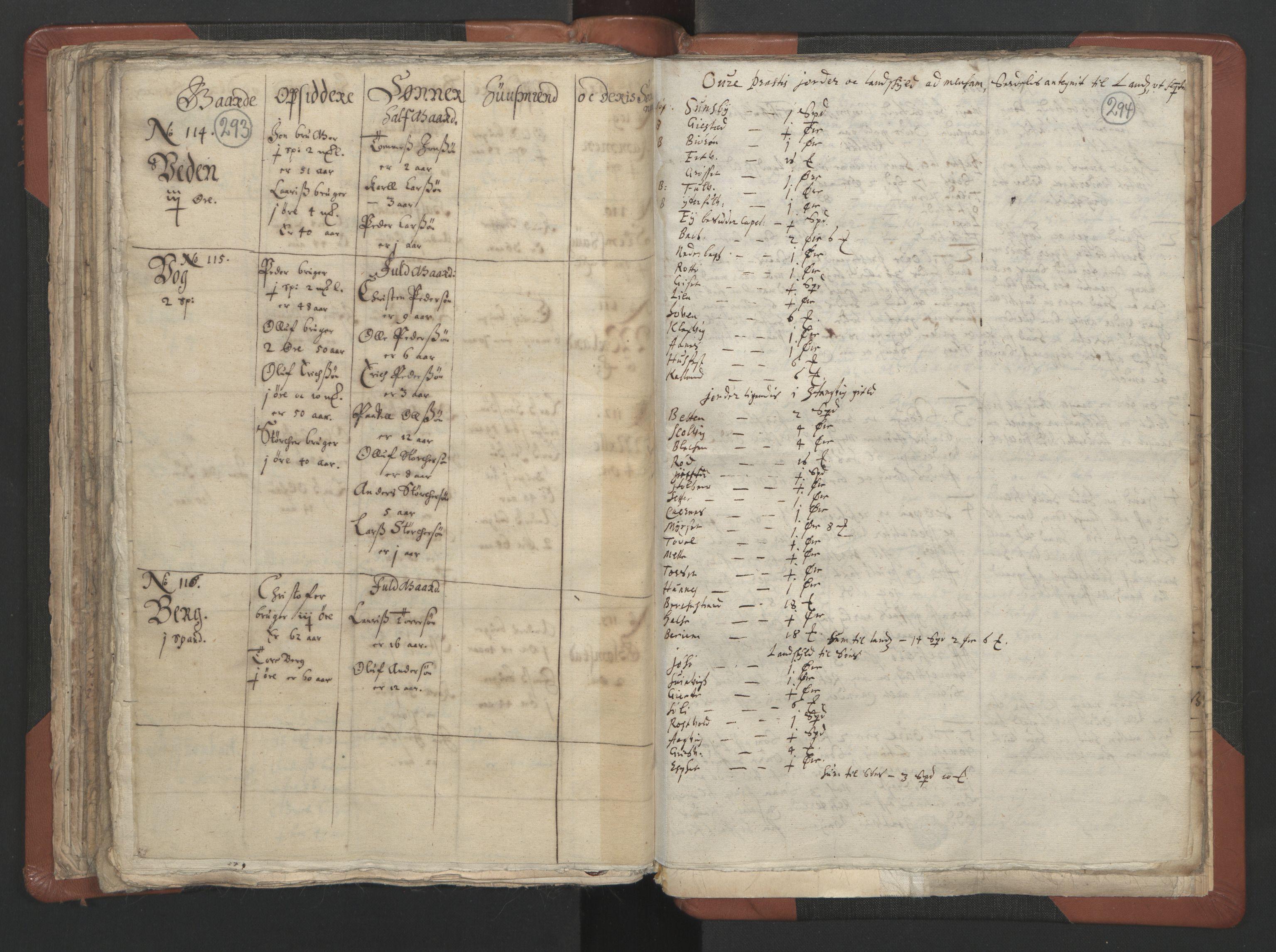 RA, Sogneprestenes manntall 1664-1666, nr. 29: Nordmøre prosti, 1664-1666, s. 293-294