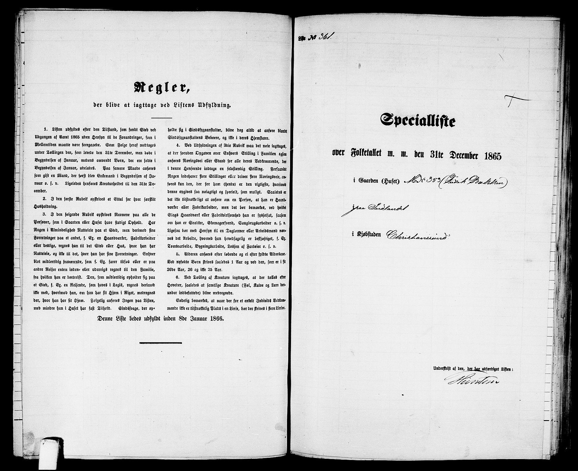 RA, Folketelling 1865 for 1503B Kristiansund prestegjeld, Kristiansund kjøpstad, 1865, s. 736