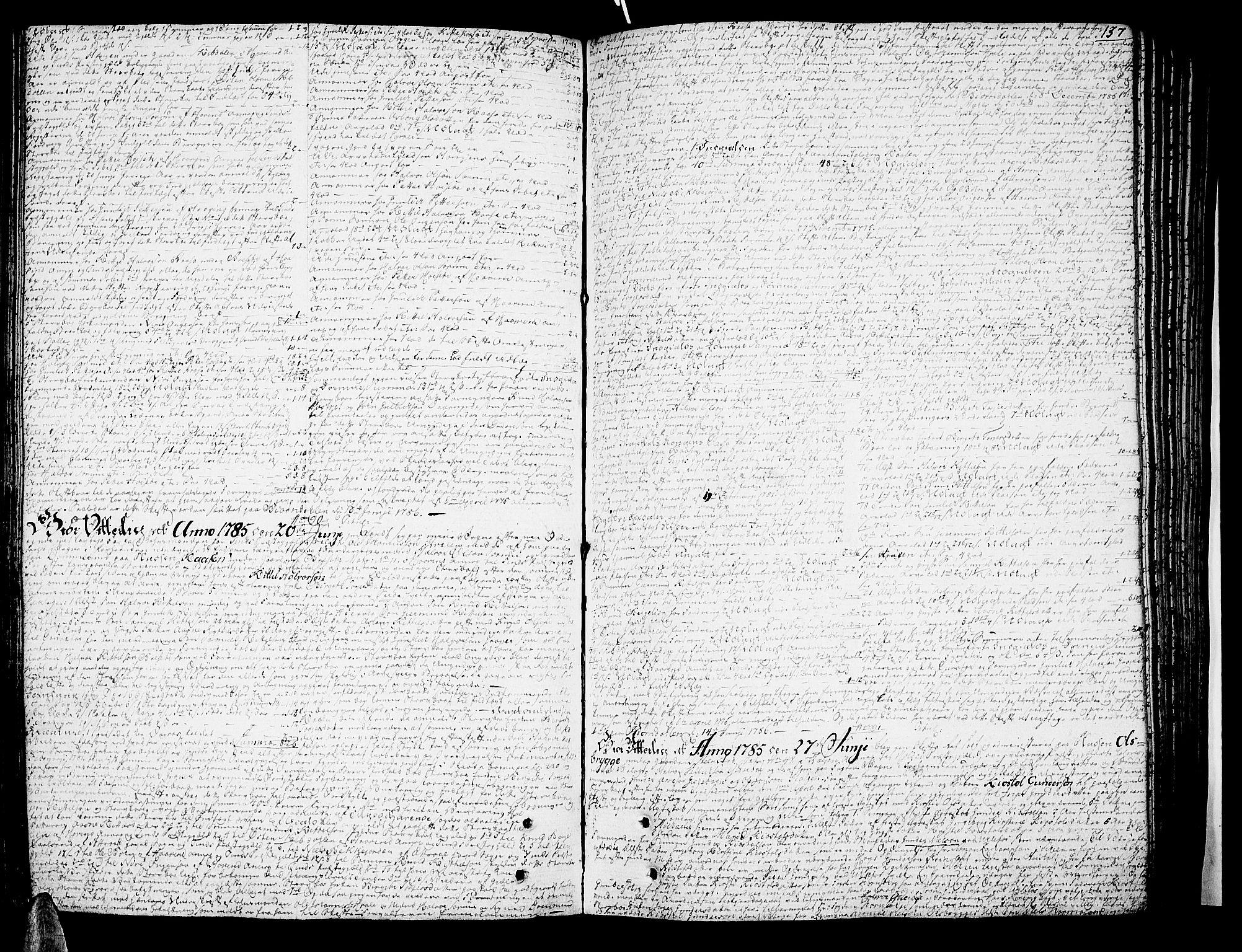SAKO, Nedre Telemark sorenskriveri, H/Hb/Hba/L0016a: Skifteprotokoll, 1785-1792, s. 136b-137a