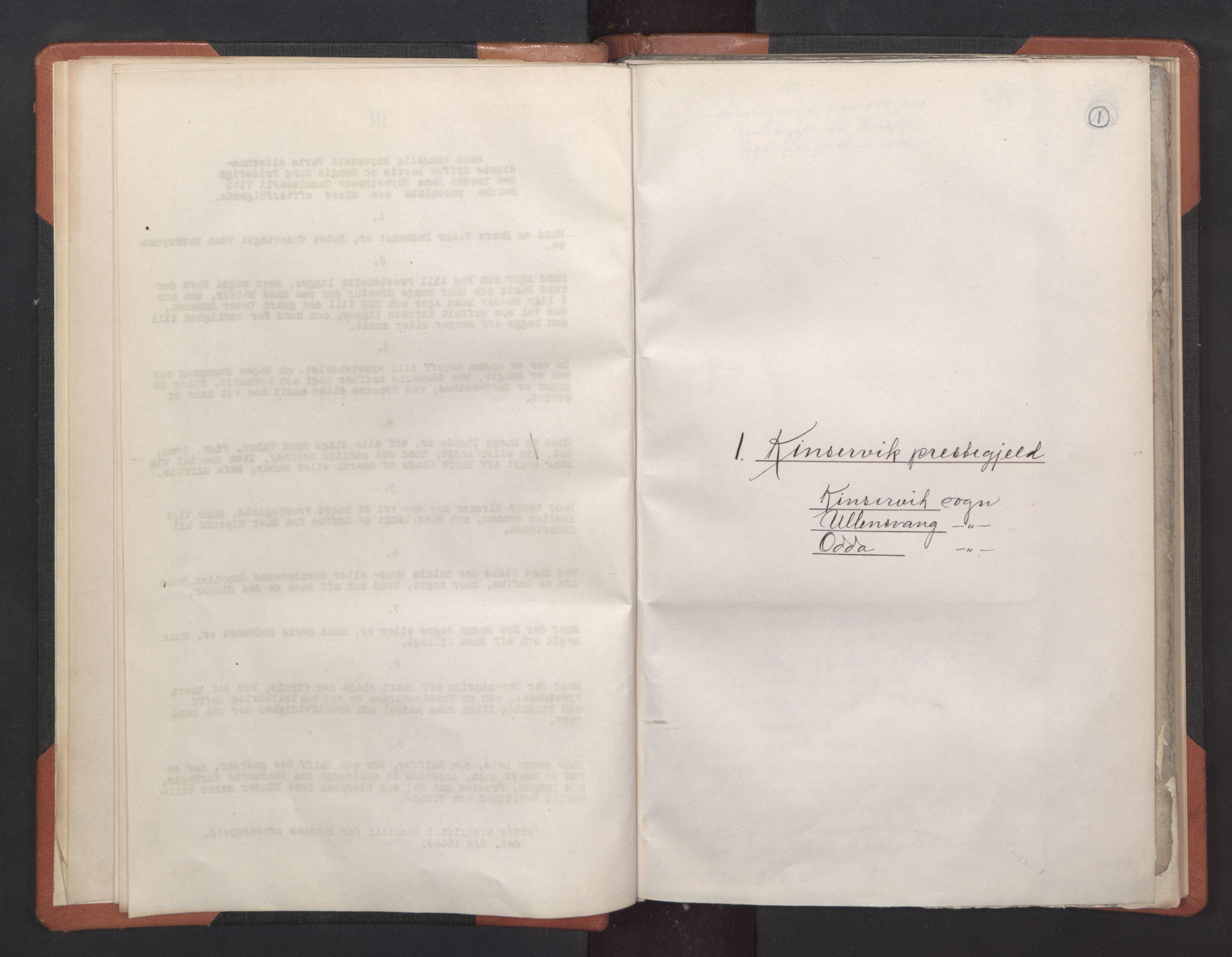 RA, Sogneprestenes manntall 1664-1666, nr. 21: Hardanger prosti, 1664-1666, s. 1
