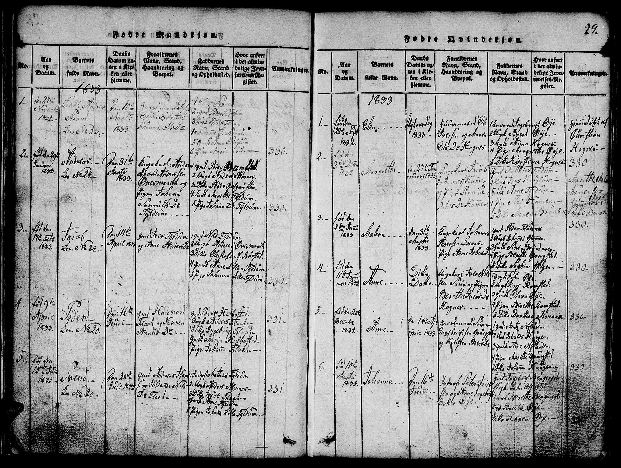 SAT, Ministerialprotokoller, klokkerbøker og fødselsregistre - Nord-Trøndelag, 765/L0562: Klokkerbok nr. 765C01, 1817-1851, s. 29