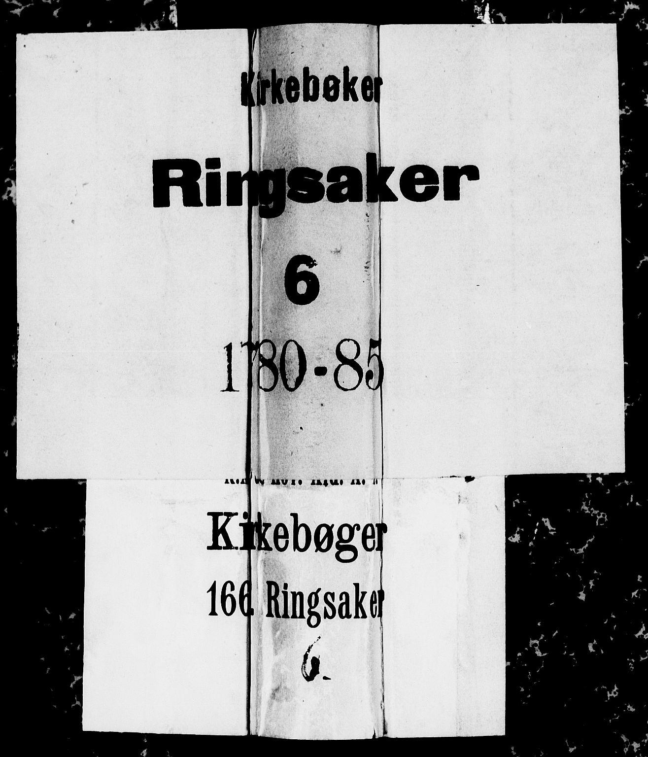 SAH, Ringsaker prestekontor, I/Ia/L0005/0003: Kladd til kirkebok nr. 1C, 1780-1784