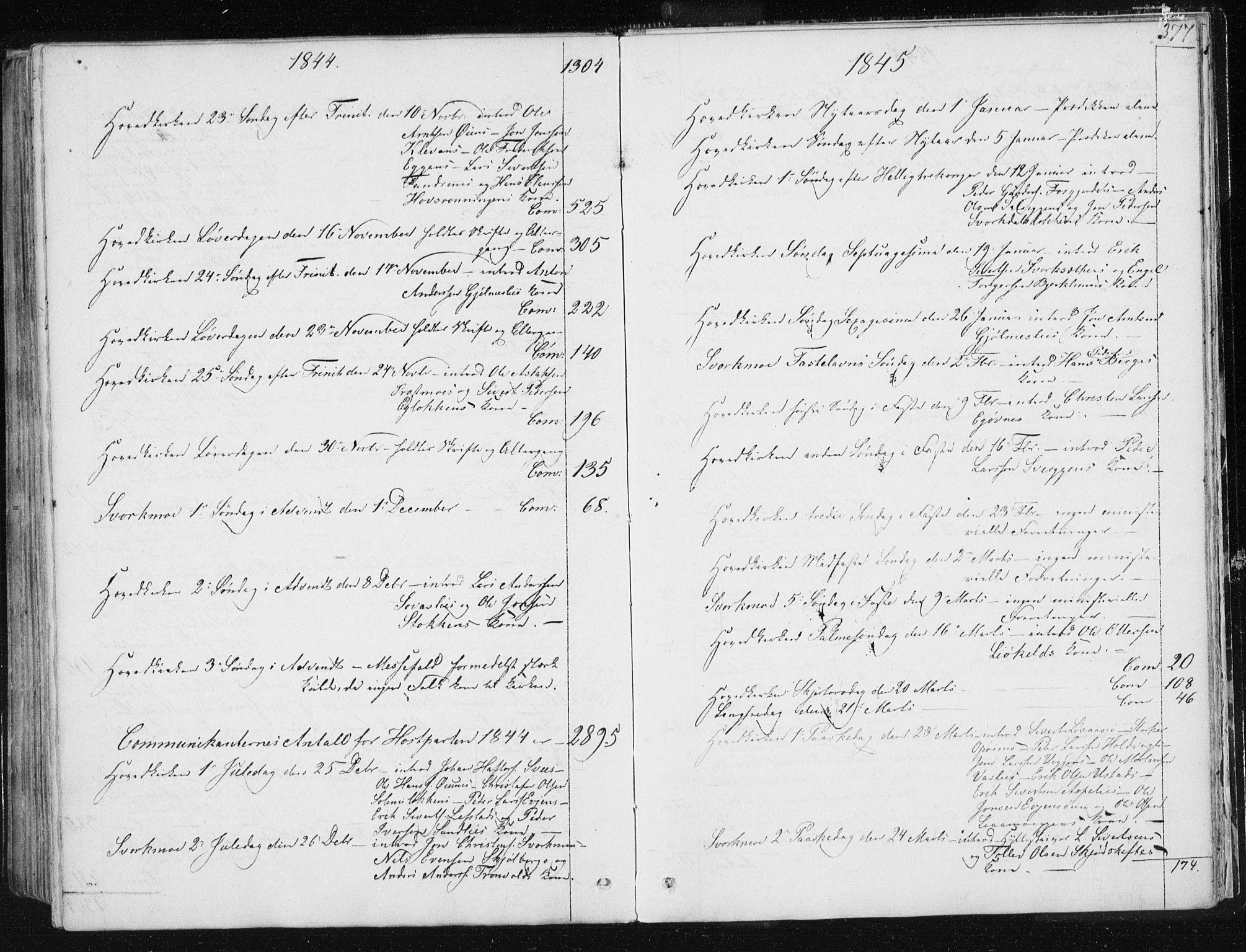 SAT, Ministerialprotokoller, klokkerbøker og fødselsregistre - Sør-Trøndelag, 668/L0805: Ministerialbok nr. 668A05, 1840-1853, s. 377