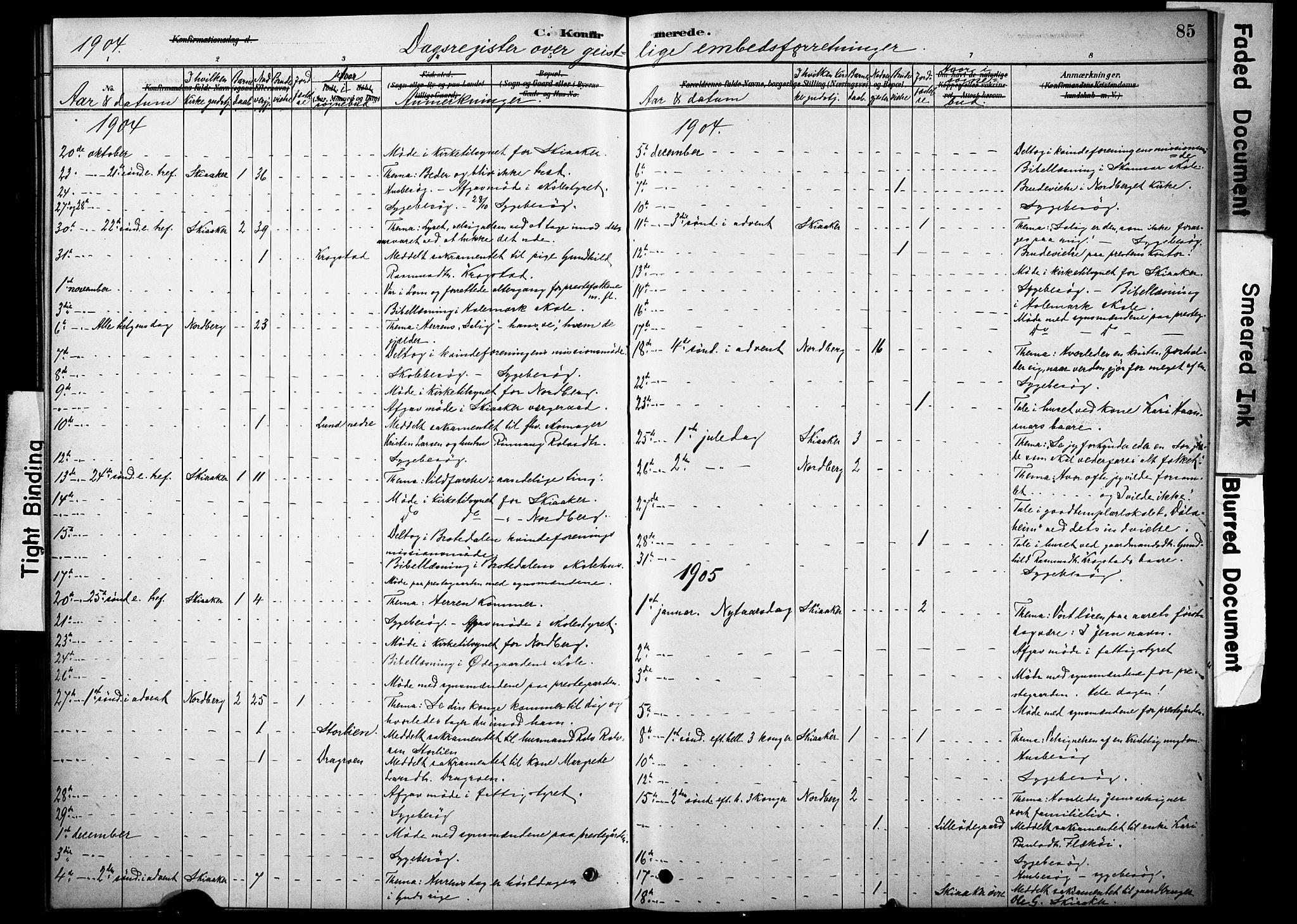 SAH, Skjåk prestekontor, Ministerialbok nr. 2, 1878-1907, s. 85