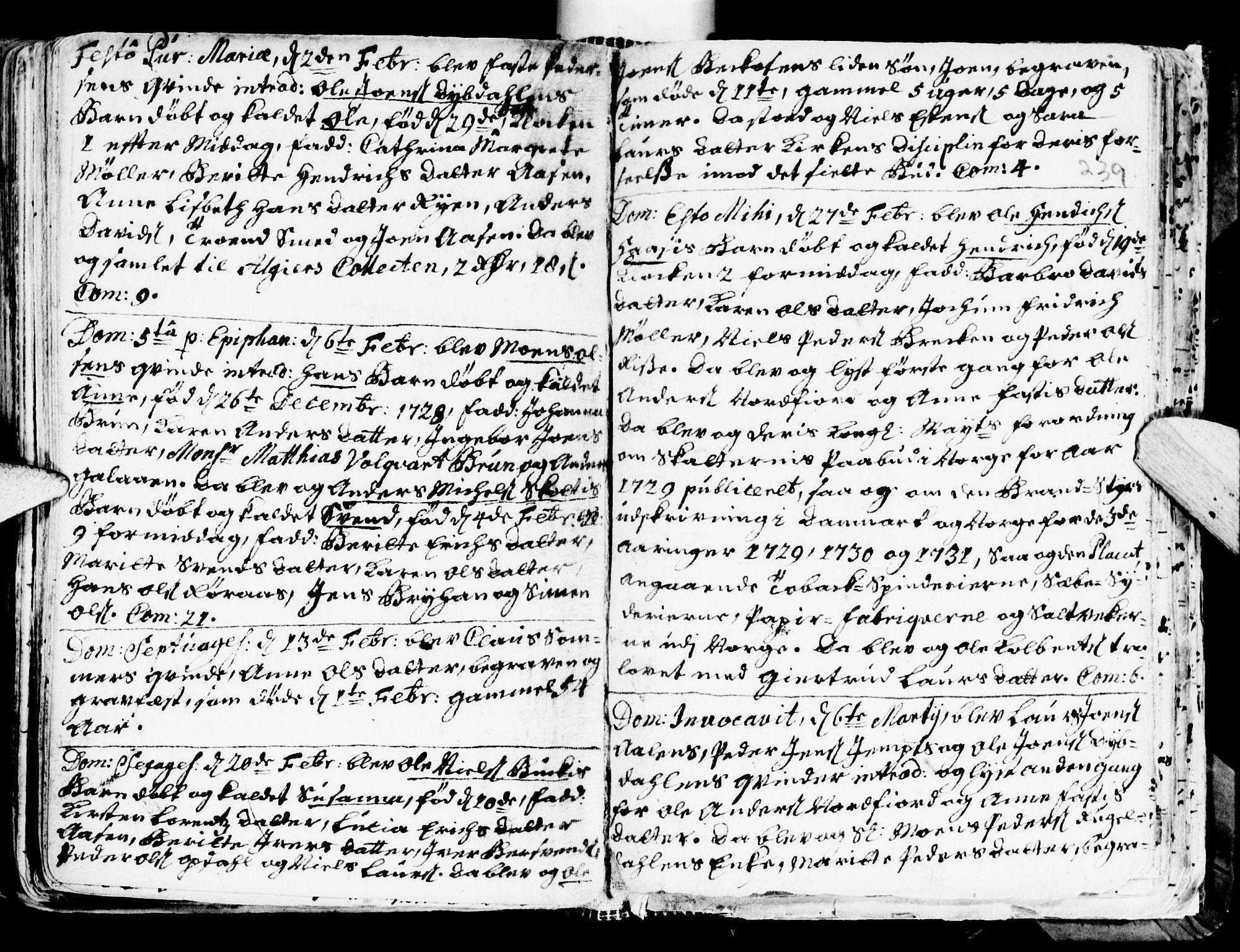 SAT, Ministerialprotokoller, klokkerbøker og fødselsregistre - Sør-Trøndelag, 681/L0924: Ministerialbok nr. 681A02, 1720-1731, s. 238-239