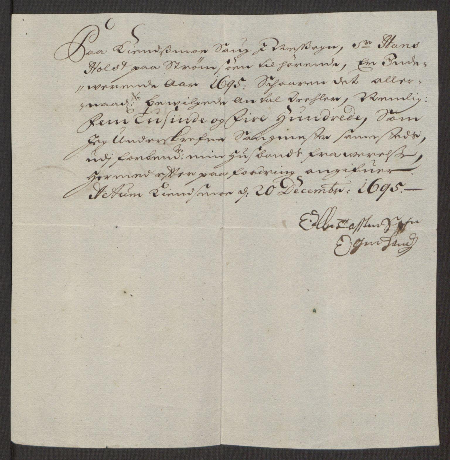 RA, Rentekammeret inntil 1814, Reviderte regnskaper, Fogderegnskap, R12/L0707: Fogderegnskap Øvre Romerike, 1695, s. 232