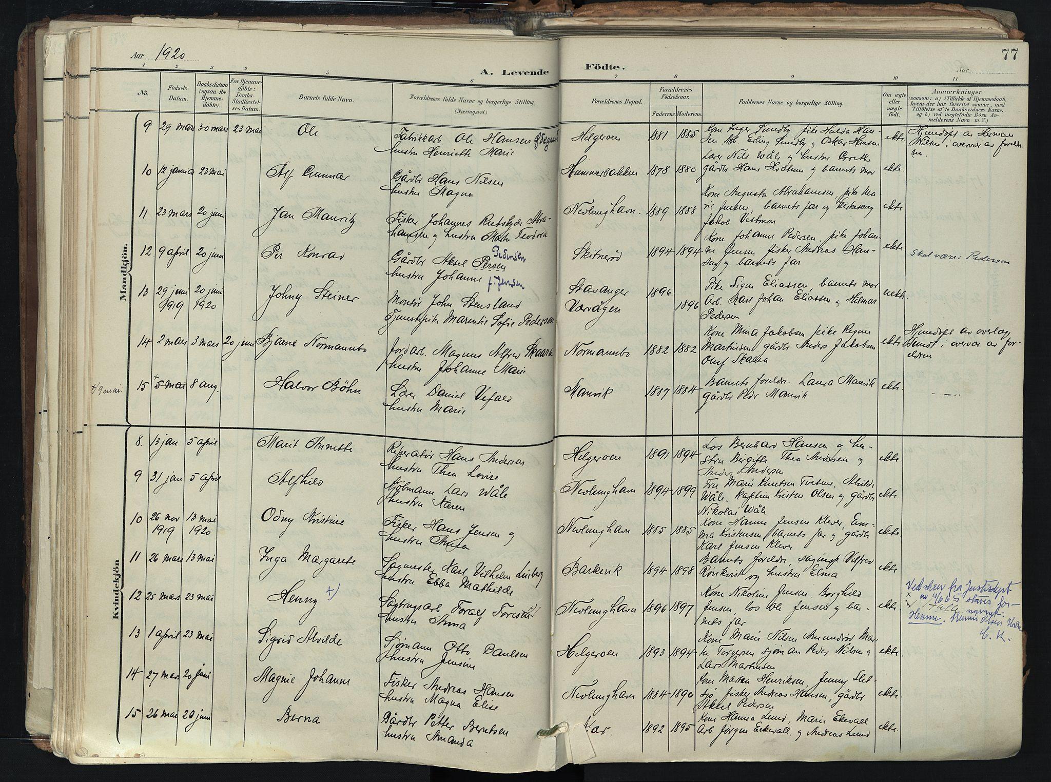 SAKO, Brunlanes kirkebøker, F/Fb/L0003: Ministerialbok nr. II 3, 1900-1922, s. 77