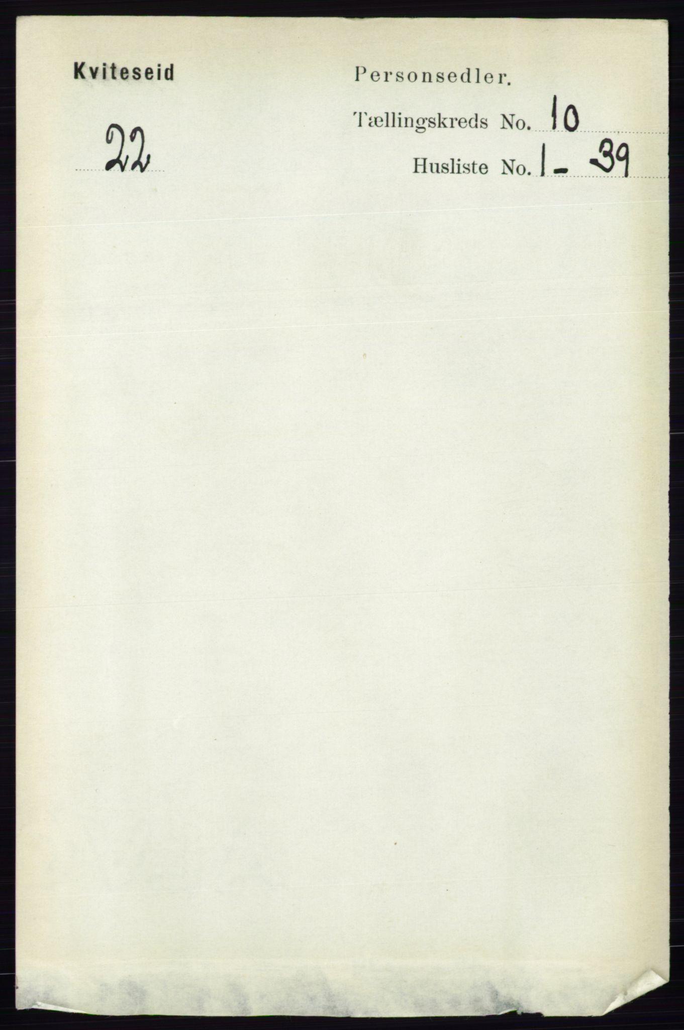 RA, Folketelling 1891 for 0829 Kviteseid herred, 1891, s. 2278