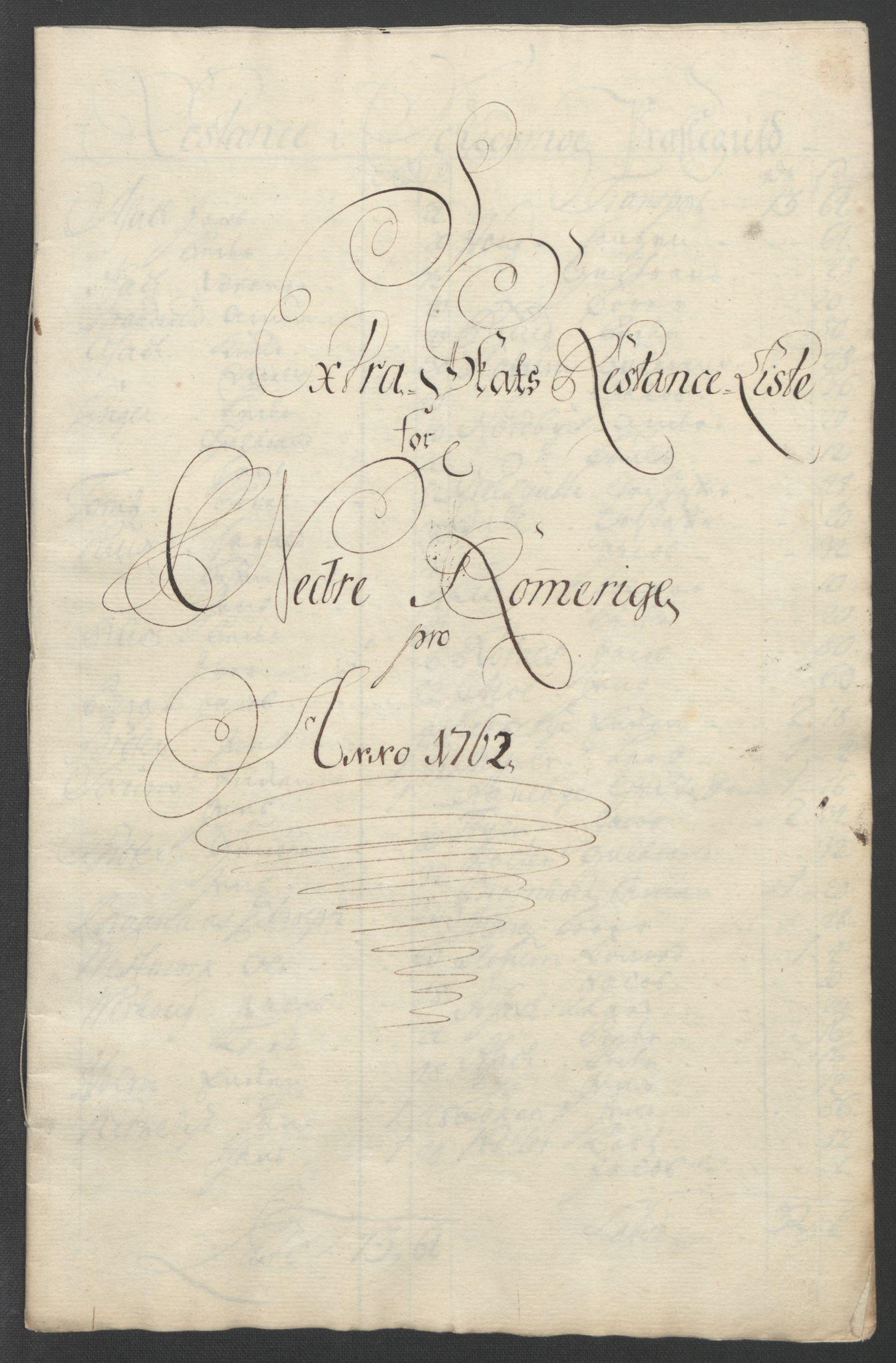 RA, Rentekammeret inntil 1814, Reviderte regnskaper, Fogderegnskap, R11/L0687: Ekstraskatten Nedre Romerike, 1762, s. 533