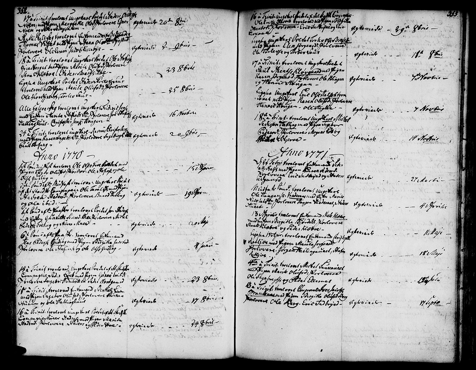 SAT, Ministerialprotokoller, klokkerbøker og fødselsregistre - Nord-Trøndelag, 746/L0440: Ministerialbok nr. 746A02, 1760-1815, s. 352-353