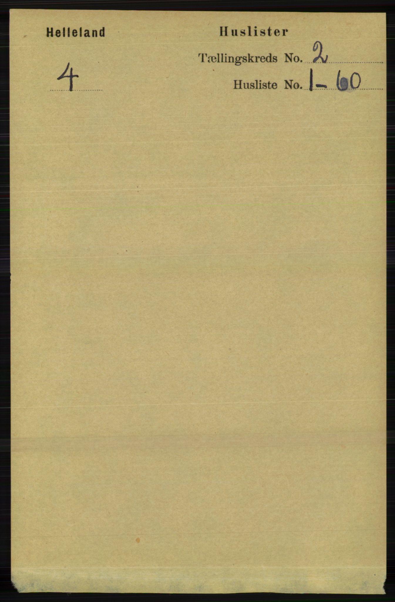 RA, Folketelling 1891 for 1115 Helleland herred, 1891, s. 370