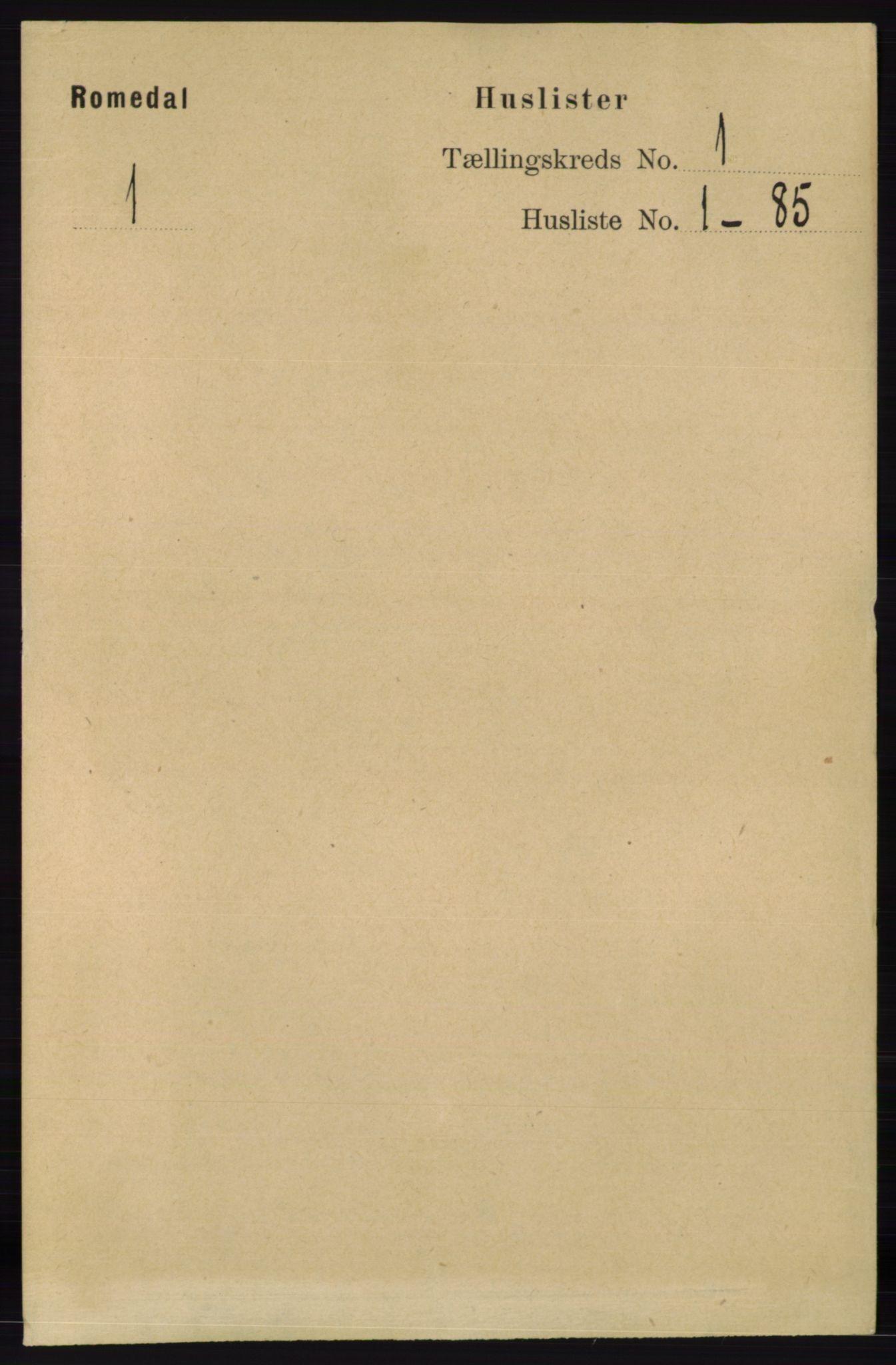 RA, Folketelling 1891 for 0416 Romedal herred, 1891, s. 30