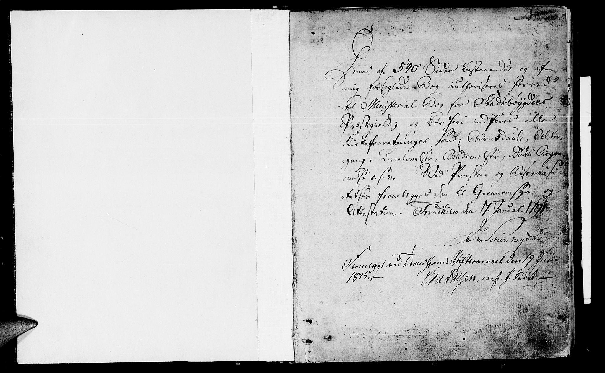SAT, Ministerialprotokoller, klokkerbøker og fødselsregistre - Sør-Trøndelag, 646/L0606: Ministerialbok nr. 646A04, 1791-1805, s. 0-1