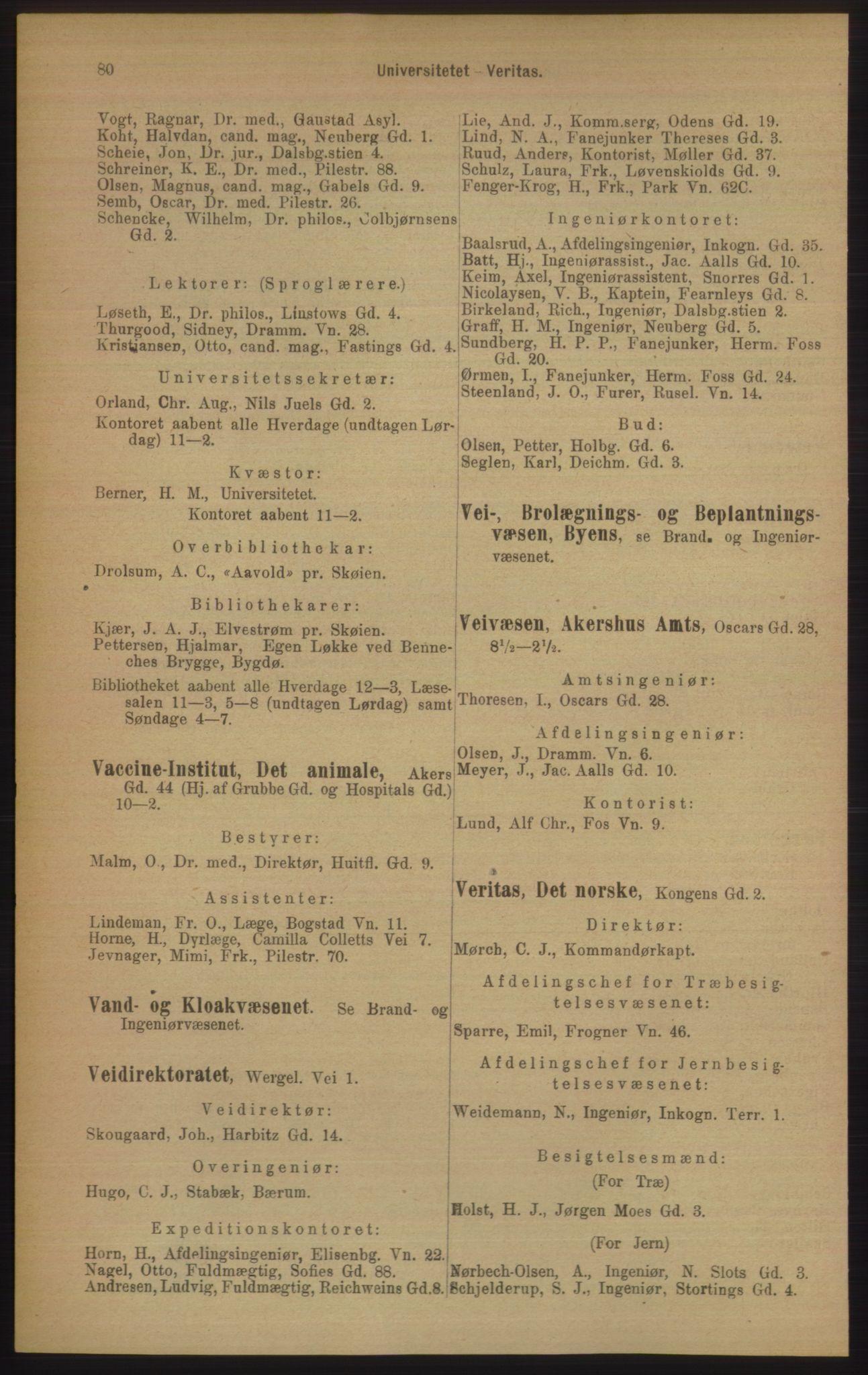 PUBL, Kristiania/Oslo adressebok, 1906, s. 80
