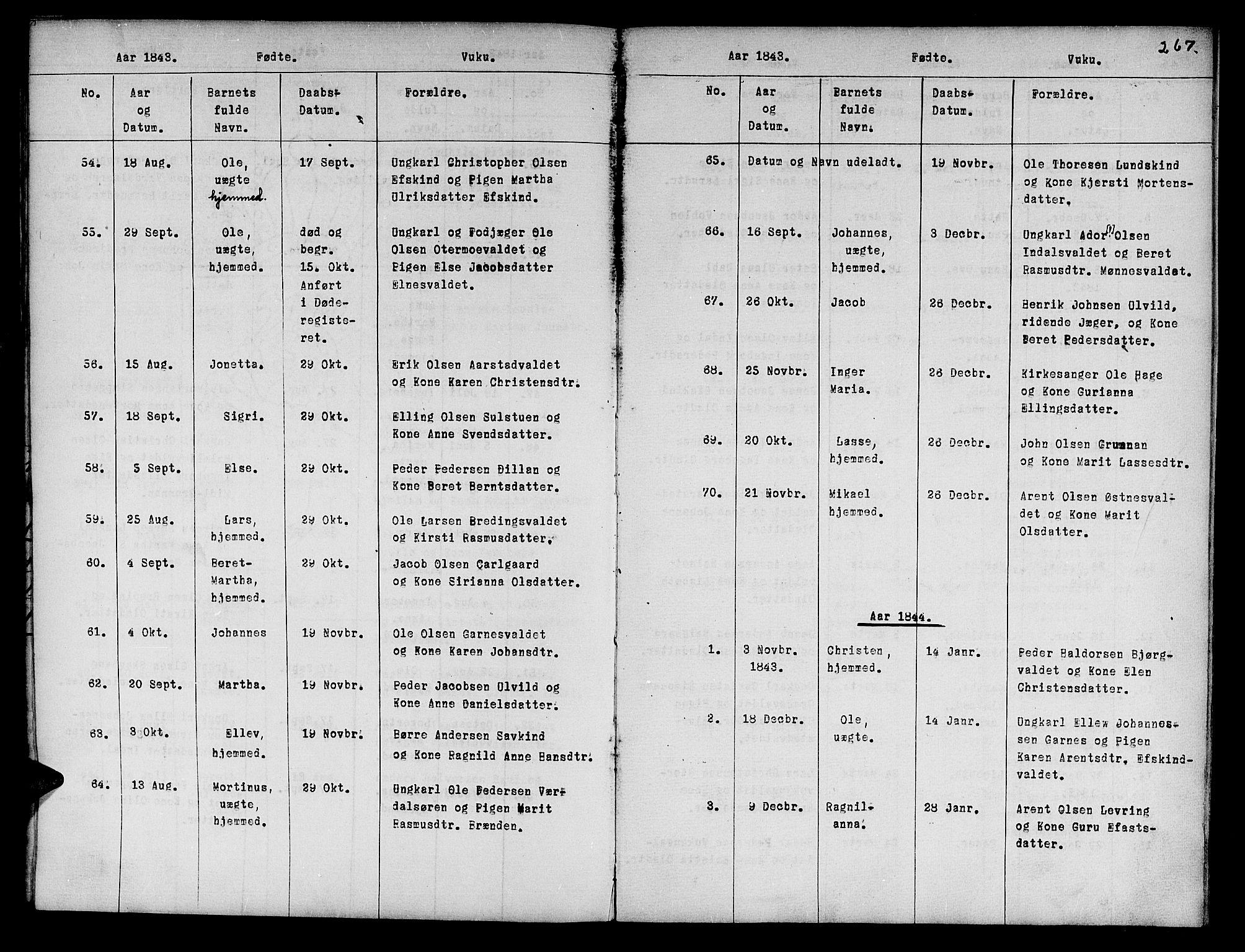 SAT, Ministerialprotokoller, klokkerbøker og fødselsregistre - Nord-Trøndelag, 724/L0265: Klokkerbok nr. 724C01, 1816-1845, s. 267