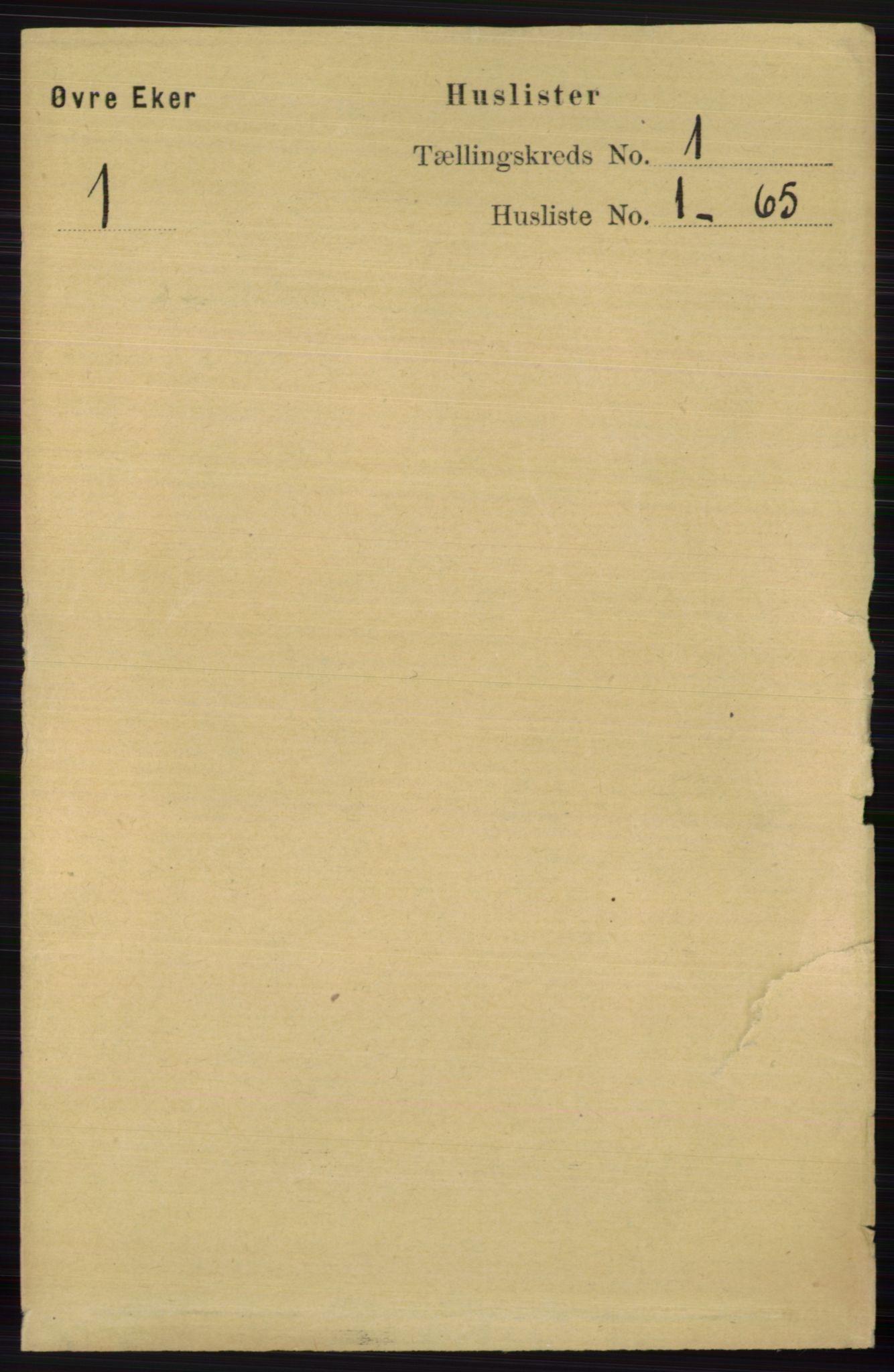 RA, Folketelling 1891 for 0624 Øvre Eiker herred, 1891, s. 58