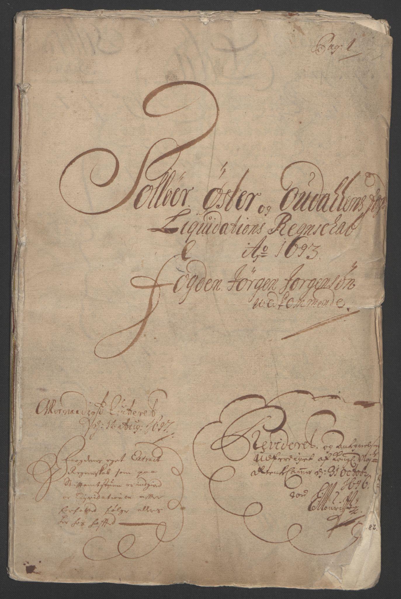 RA, Rentekammeret inntil 1814, Reviderte regnskaper, Fogderegnskap, R13/L0831: Fogderegnskap Solør, Odal og Østerdal, 1693, s. 4