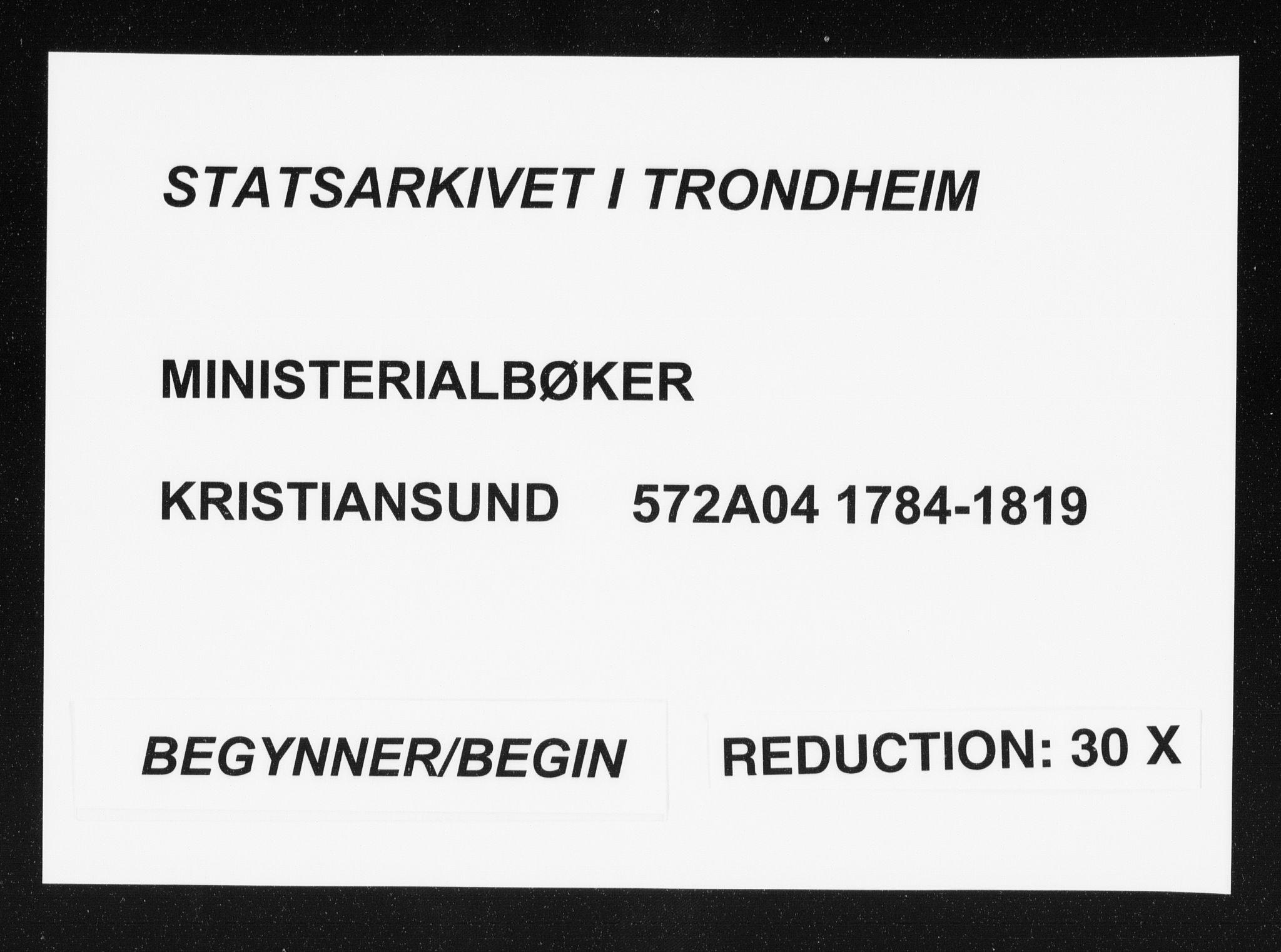 SAT, Ministerialprotokoller, klokkerbøker og fødselsregistre - Møre og Romsdal, 572/L0841: Ministerialbok nr. 572A04, 1784-1819